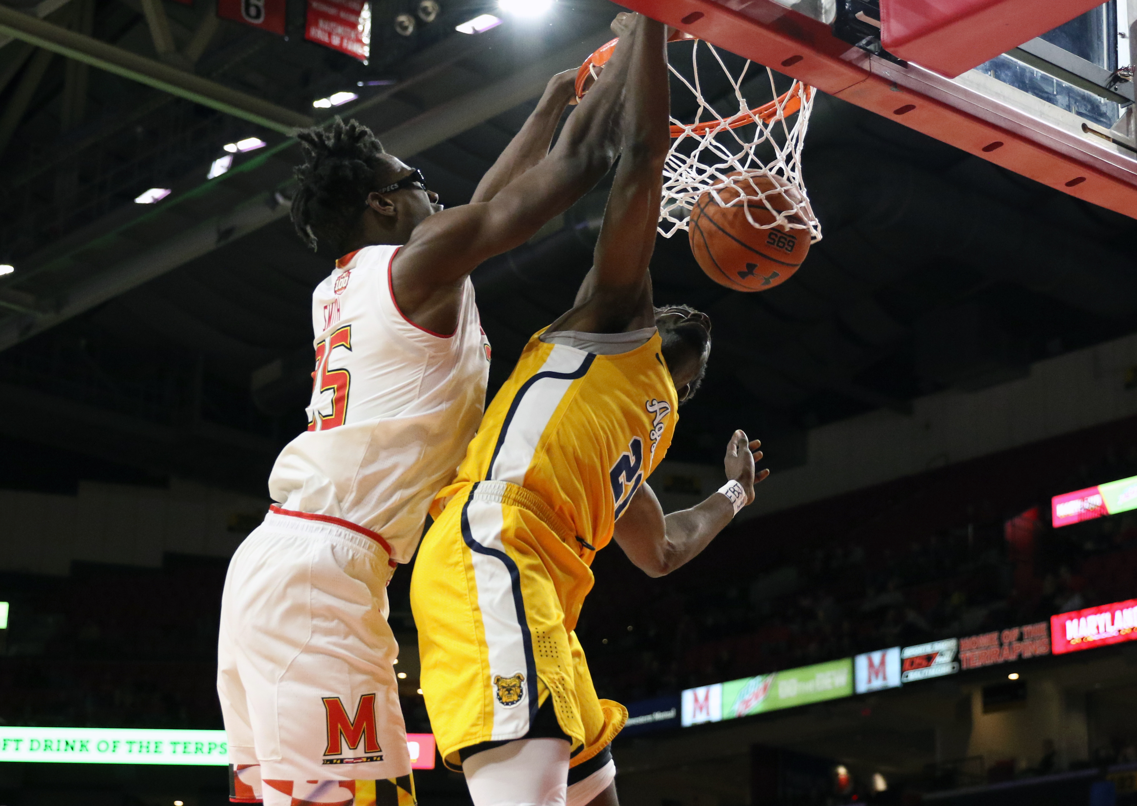 MARYLAND BASKETBALL JALEN SMITH vs. North Carolina A&T