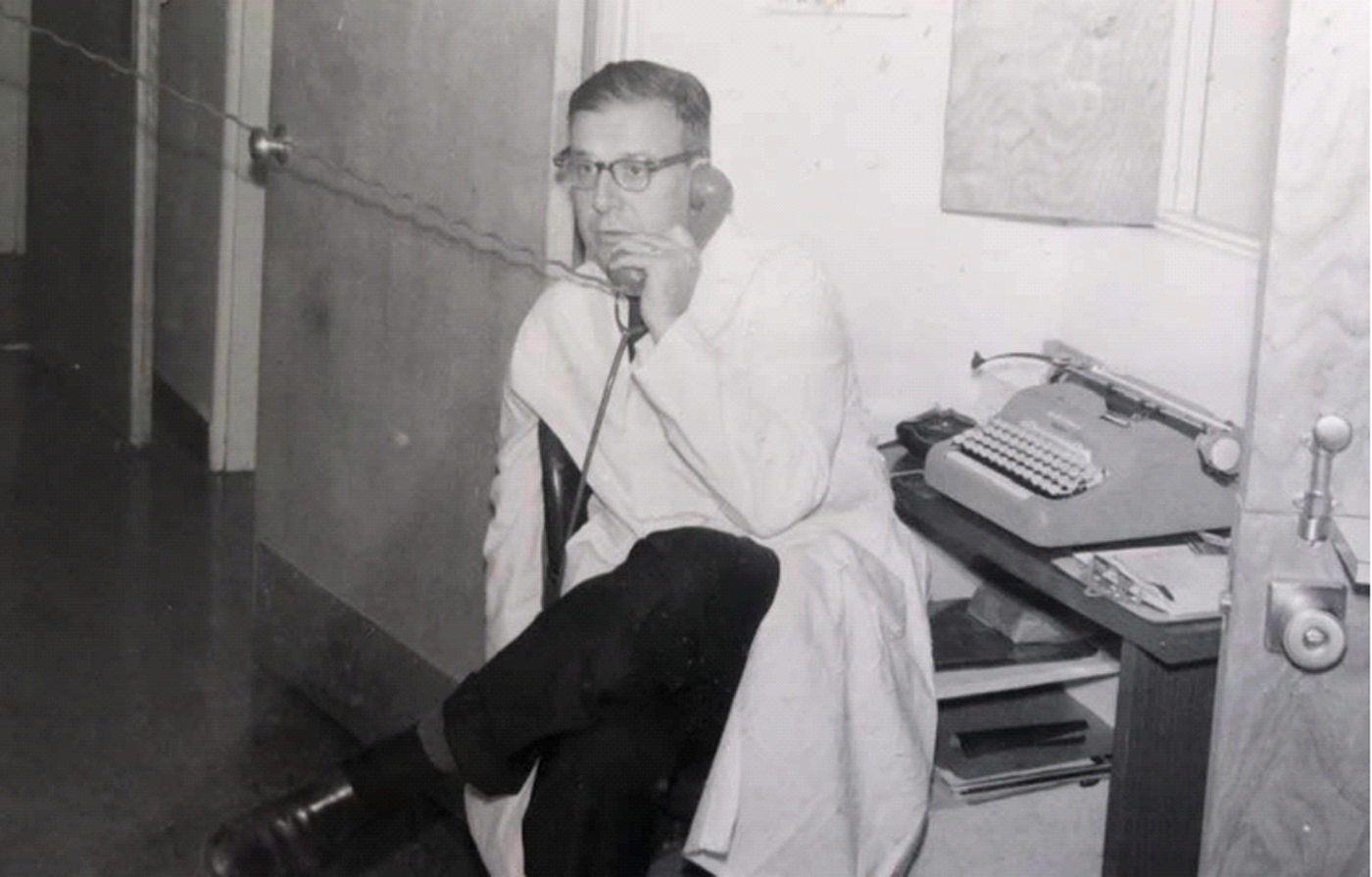 Dr. Seymour Diamond during his career as a renowned headache doctor.