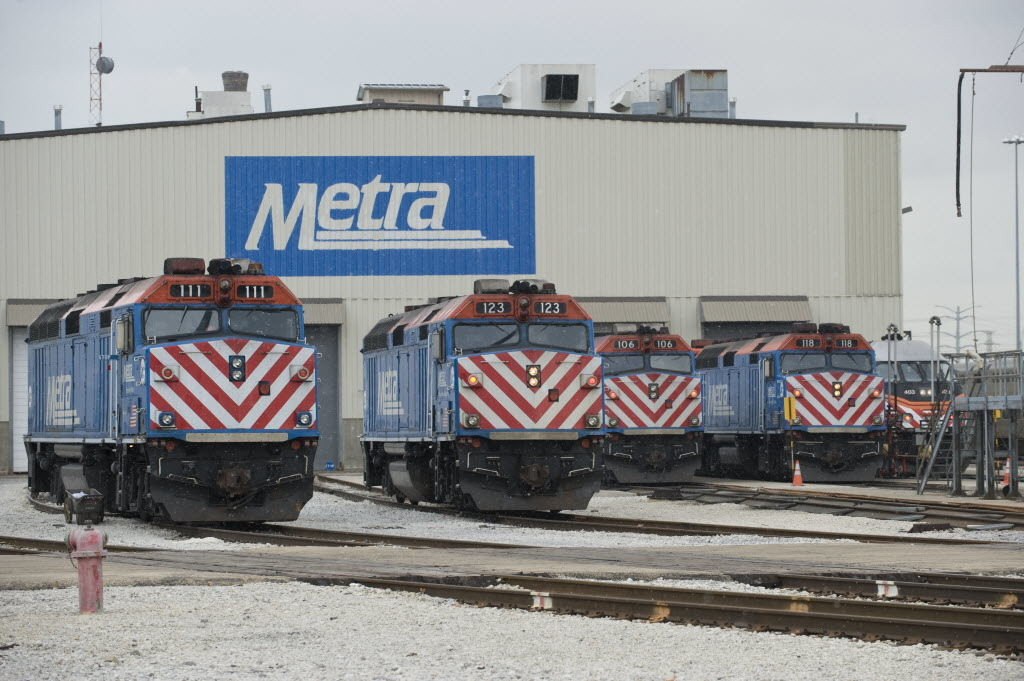 Trains are running with delays on Metra's Union Pacific West Line because of mechanical issues Oct. 18, 2019.