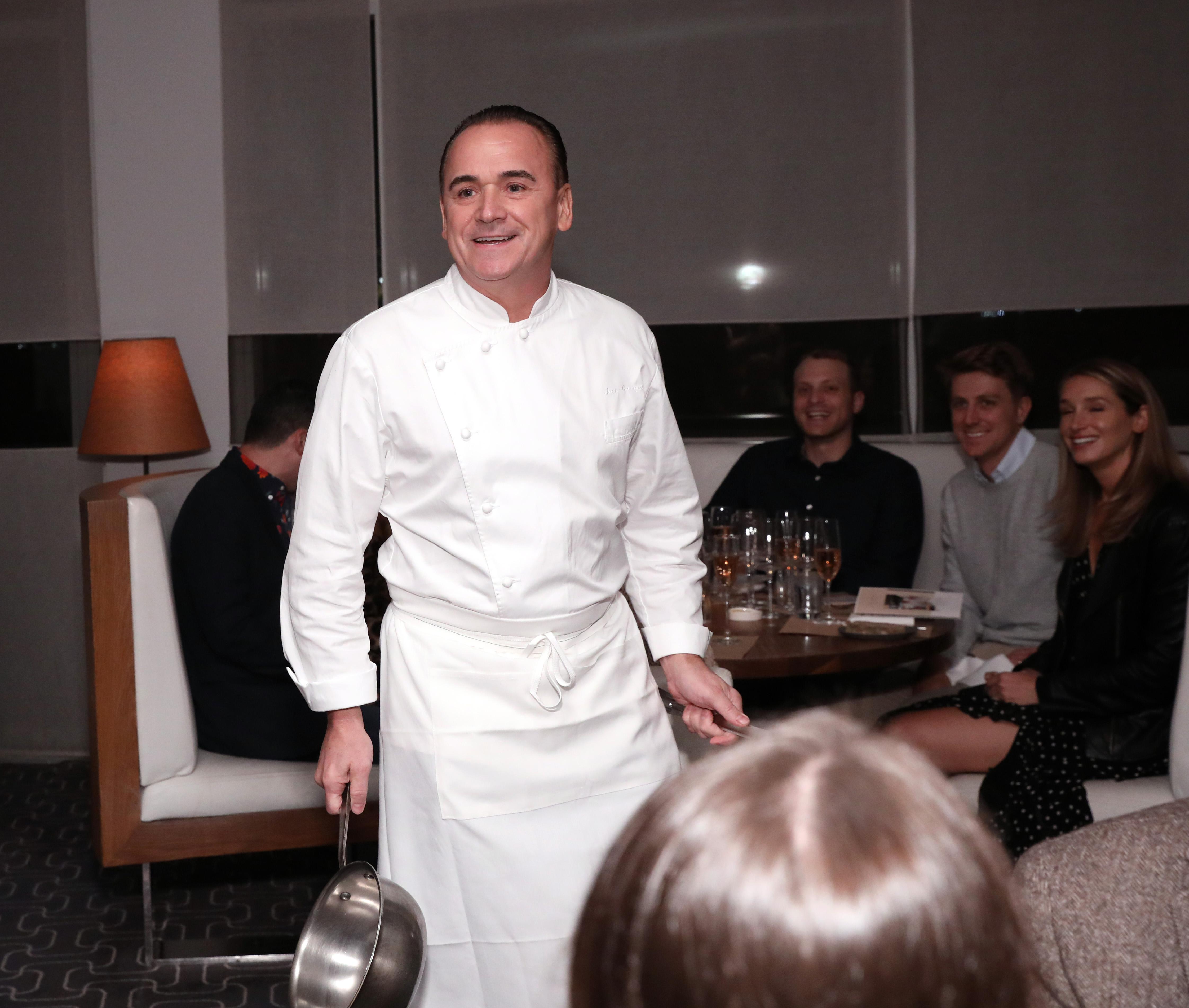 Jean-Georges Vongerichten in chef whites