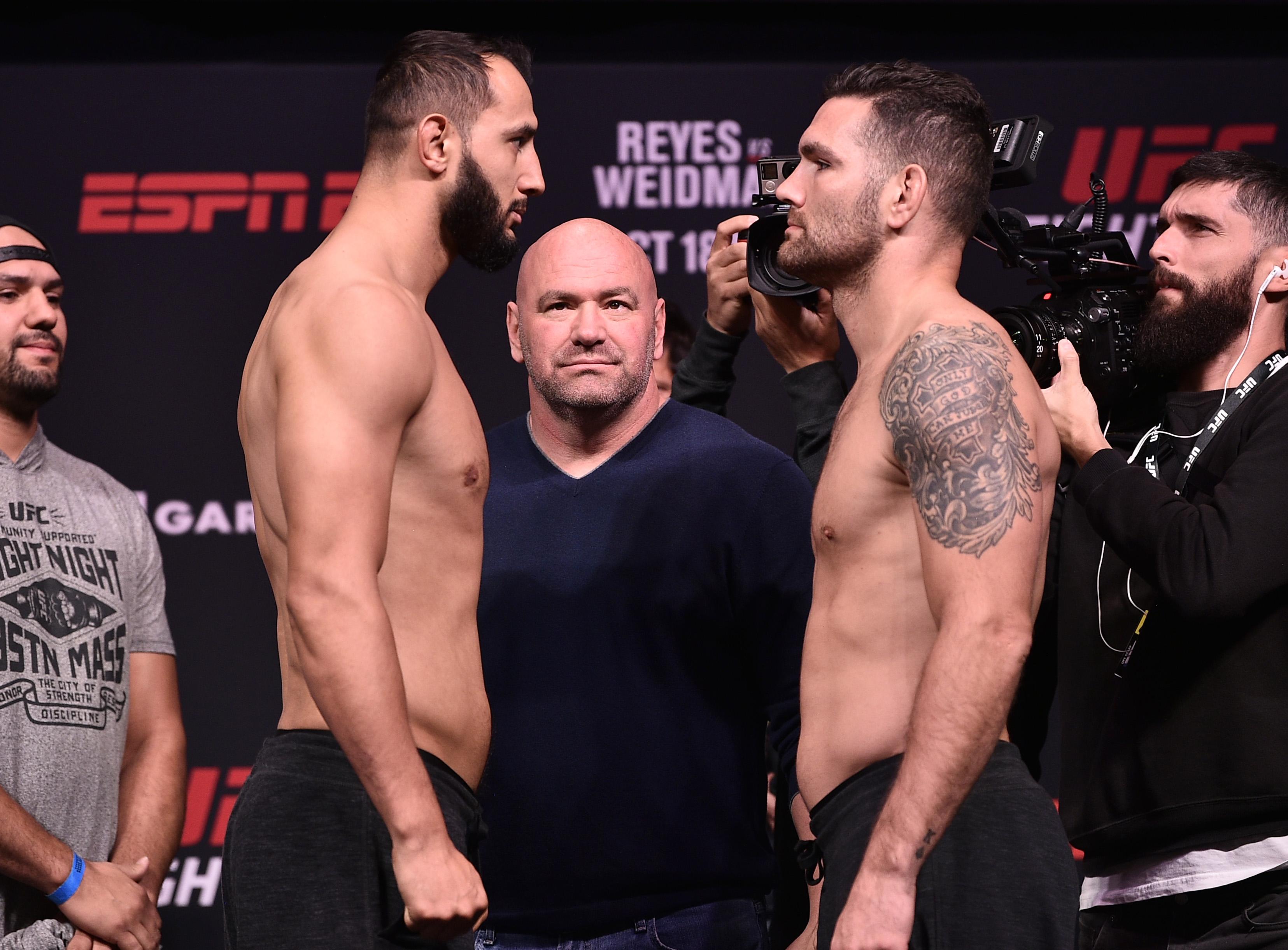 UFC Fight Night Reyes v Weidman: Weigh-Ins