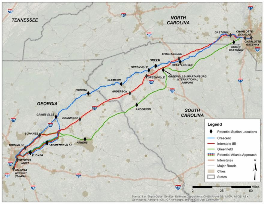 Officials seek public input for proposed high-speed Atlanta-Charlotte railway
