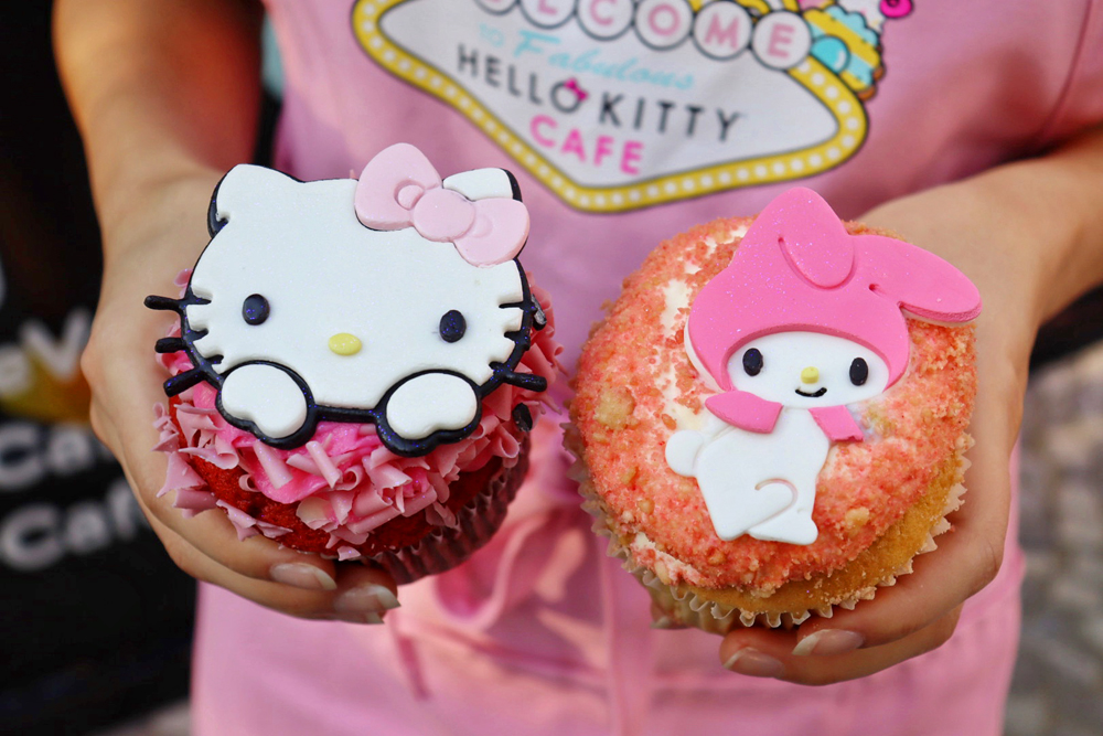 Two new cupcakes on the fall menu at the Hello Kitty Cafe Las Vegas.