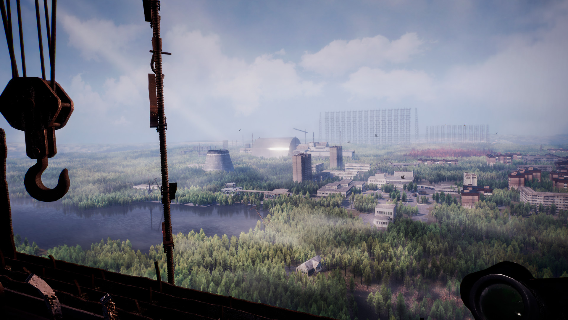 The ruins of the Chernobyl Nuclear Power Plant in the 2019 PC video game Chernobylite