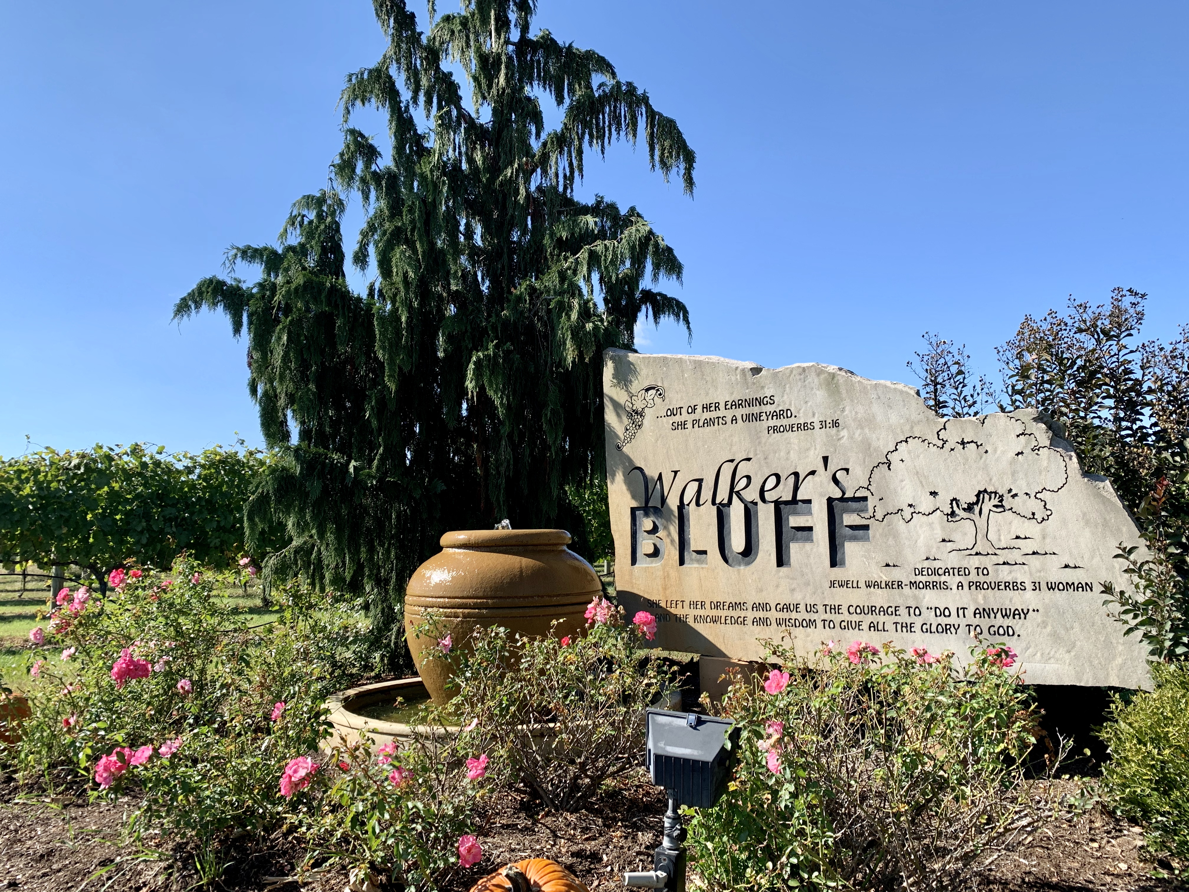 The entrance to Walker's Bluff winery near Carterville, which could soon be home to a casino alongside its upscale wedding venue space.