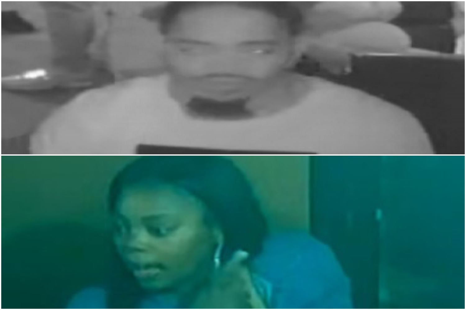 Surveillance images of two people wanted for the shooting death of Alfonzo Leflore