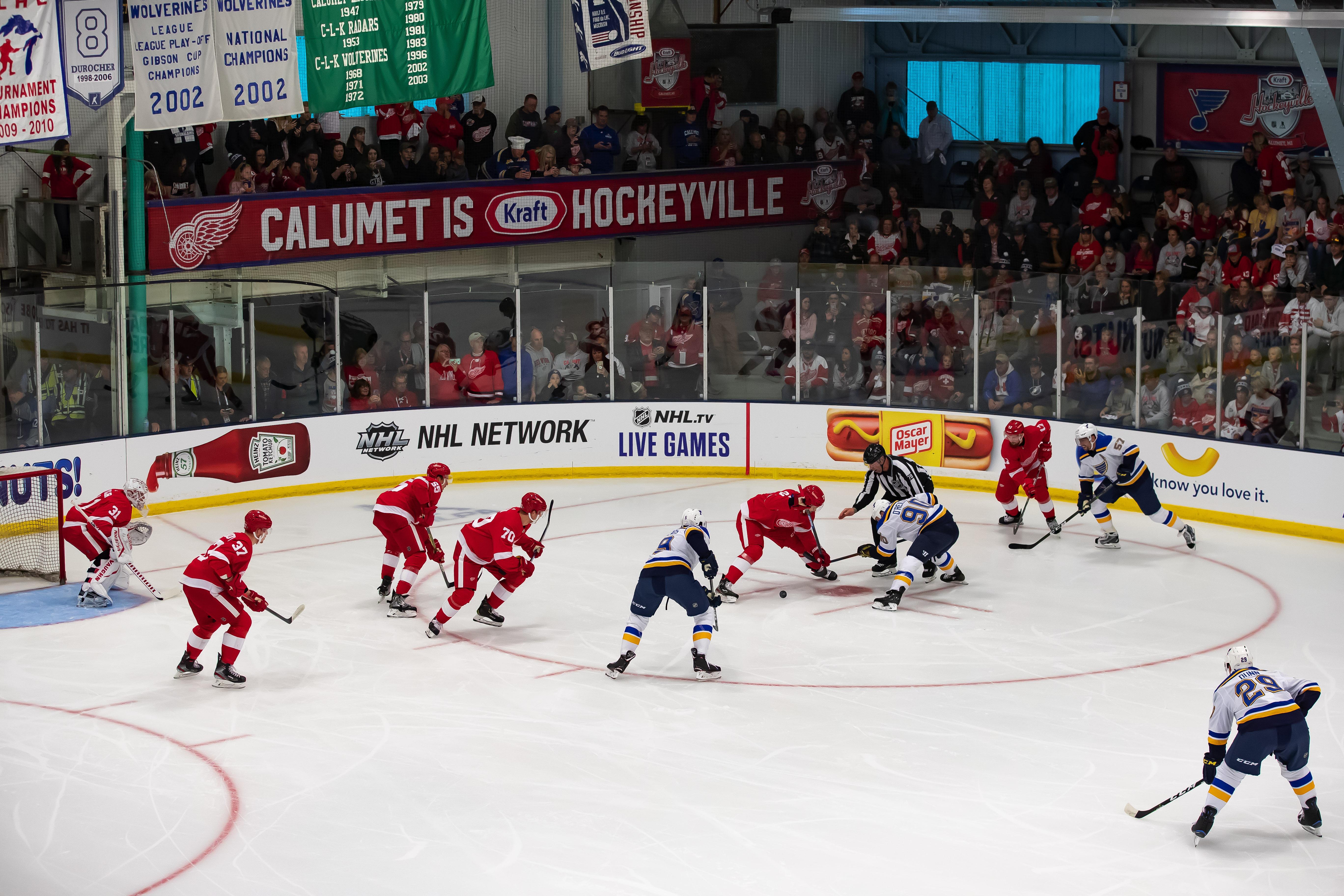 Detroit Red Wings v St Louis Blues - Kraft Hockeyville USA