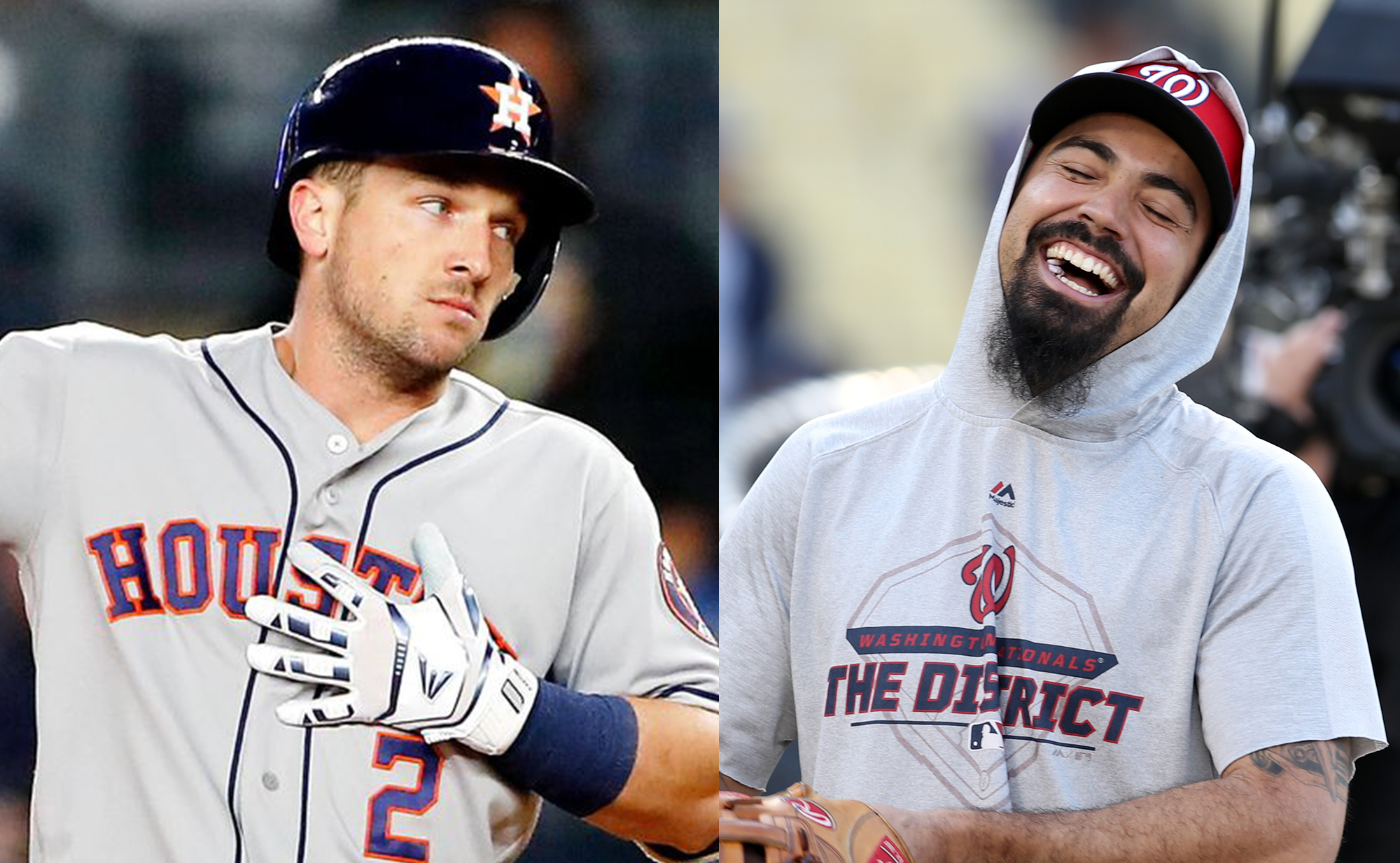 Alex Bregman and Anthony Rendon give us the best third base World Series matchup in a long long time, so here are two pictures of them smiling.