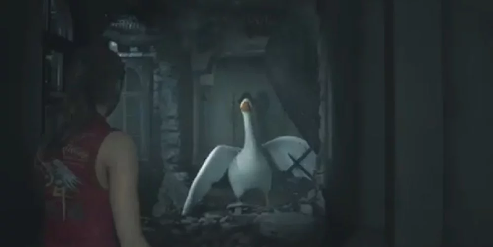 Untitled Goose Game goose is the latest ridiculous Resident Evil 2 ringer