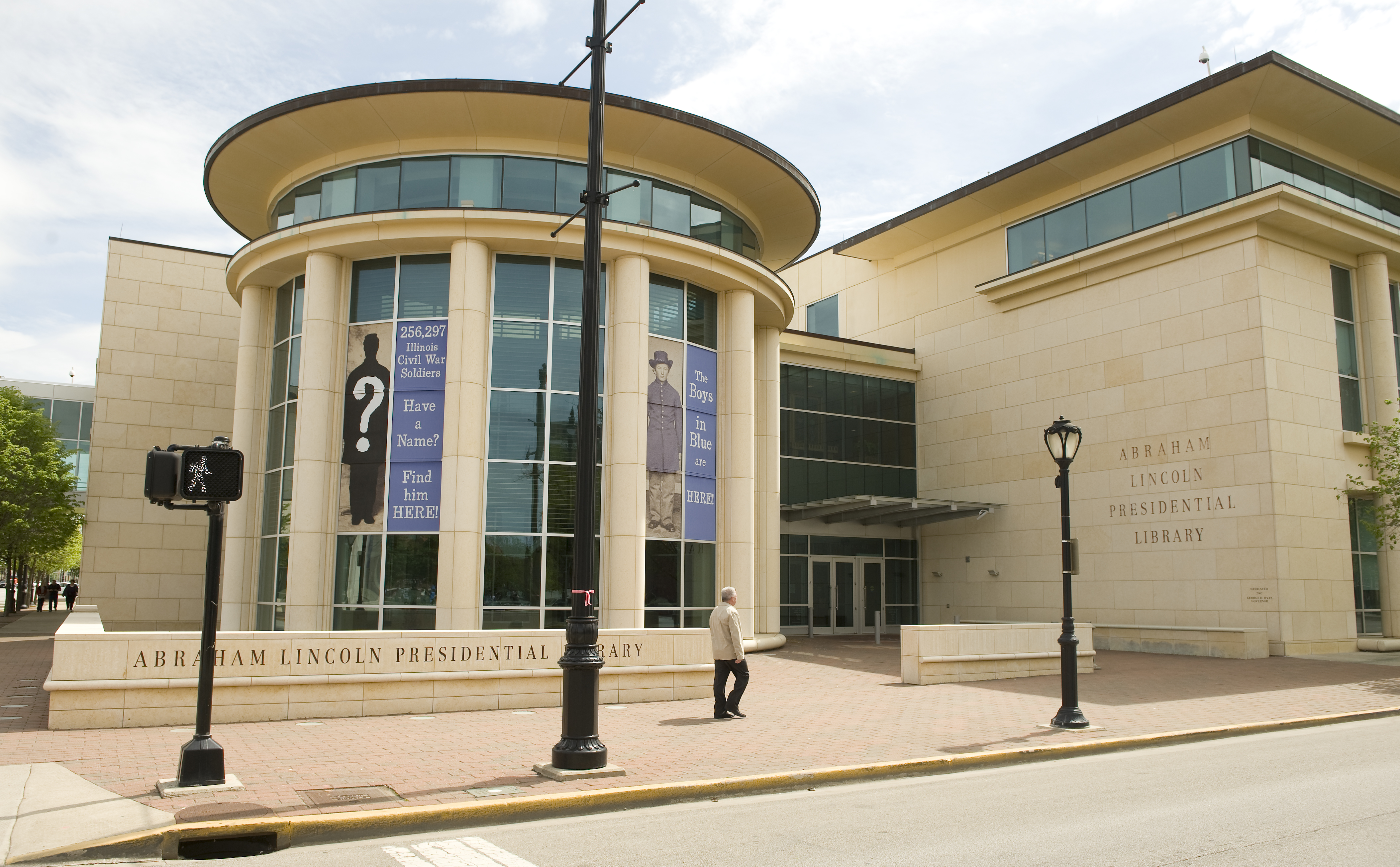 The Abraham Lincoln Presidential Library and Museum in Springfield, Illinois.