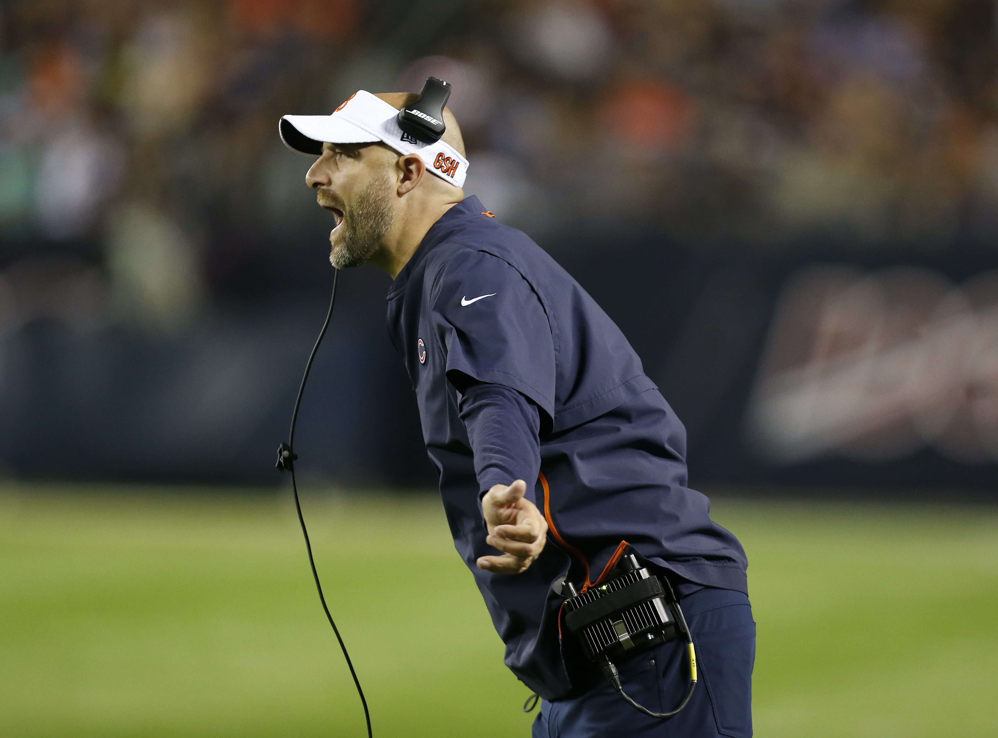 Bears coach Matt Nagy is trying to keep negativity away from his team after a brutal loss to the Saints on Sunday.