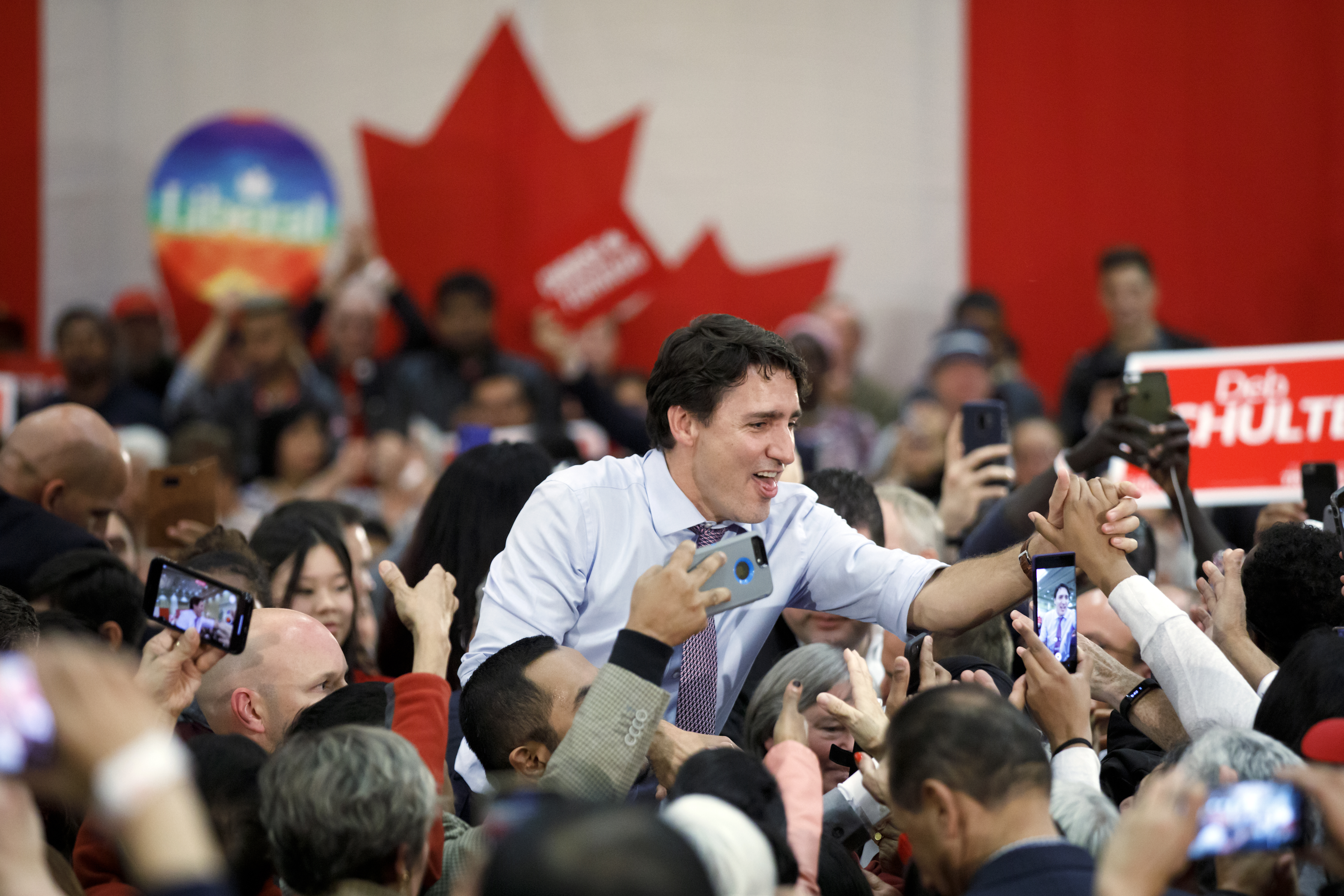 Prime Minister Justin Trudeau Holds A Campaign Rally In Vaughan, Ontario