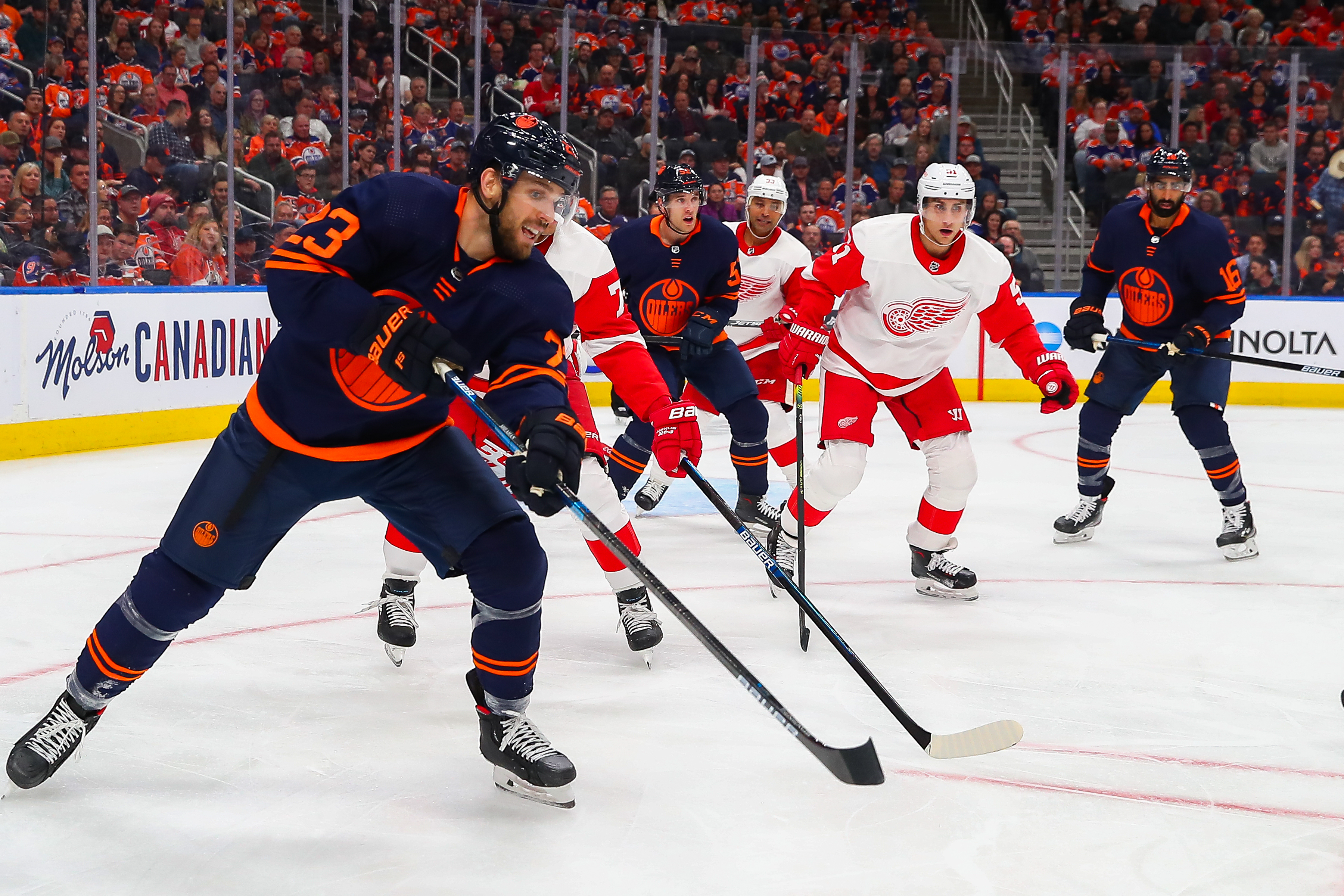 NHL: OCT 18 Red Wings at Oilers
