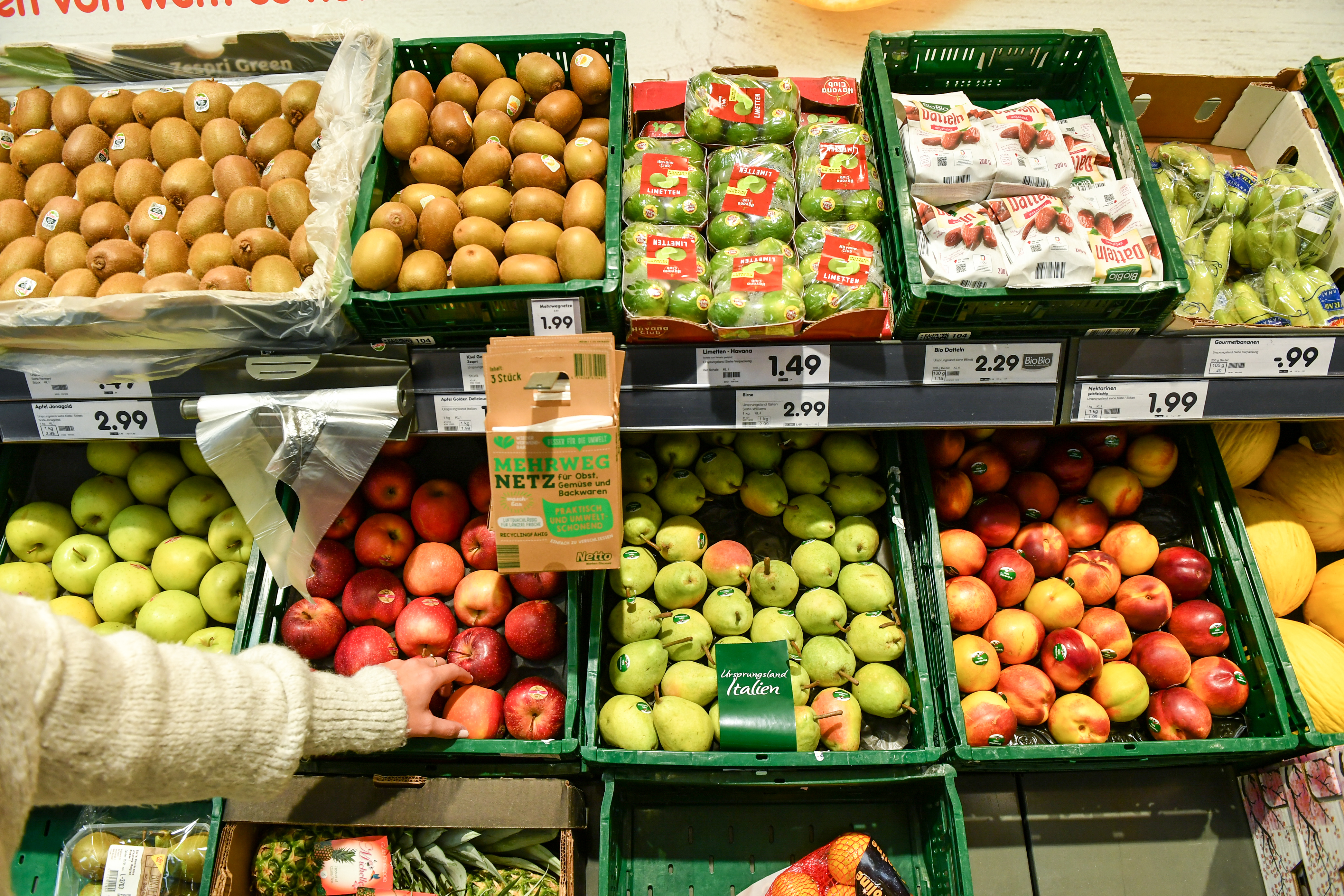 Fresh food in the supermarket