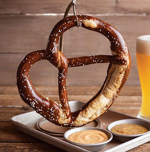 Menu offerings at World of Beer