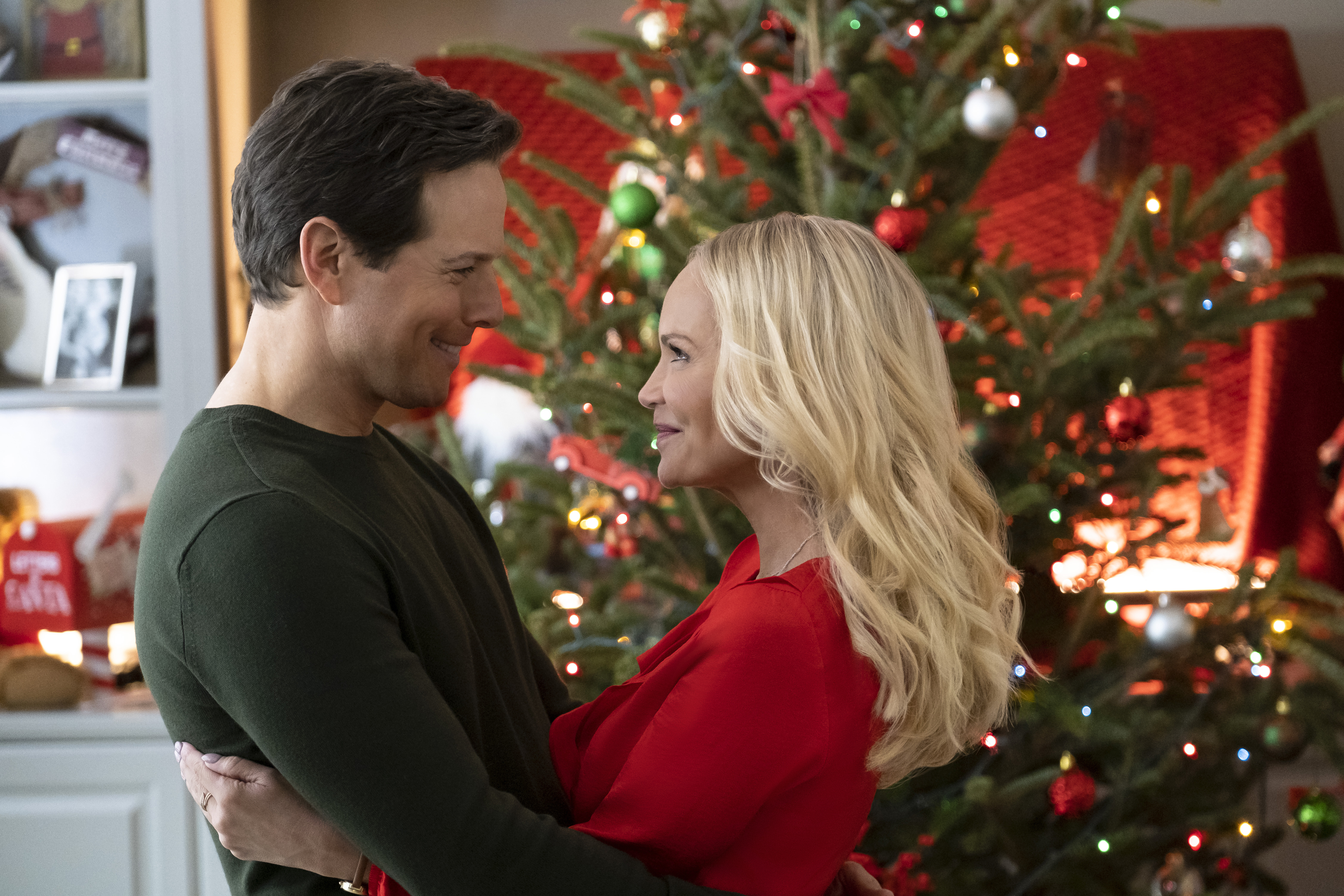 "Scott Wolf and Kristin Chenoweth star in ""A Christmas Love Story,"" one of 40 new movies coming this holiday season on the Hallmark channels."