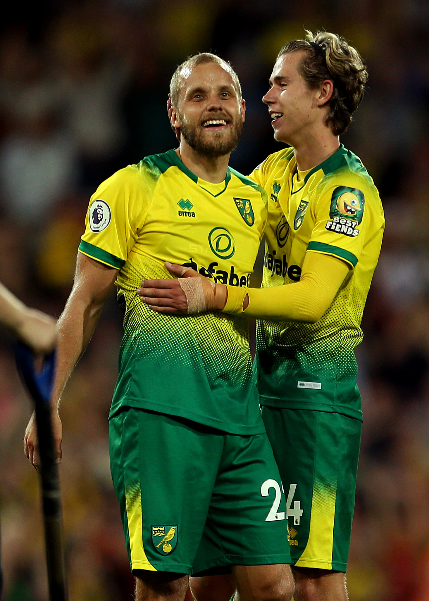 Teemu Pukki and Todd Cantwell - Norwich City - Premier League - Carrow Road