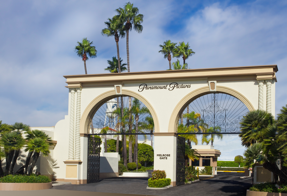 The main gate to Paramount Studios on November 27, 2010 in Los Angeles. The iconic studio continues filmmaking since 1931 and remains the one actually located in Hollywood.