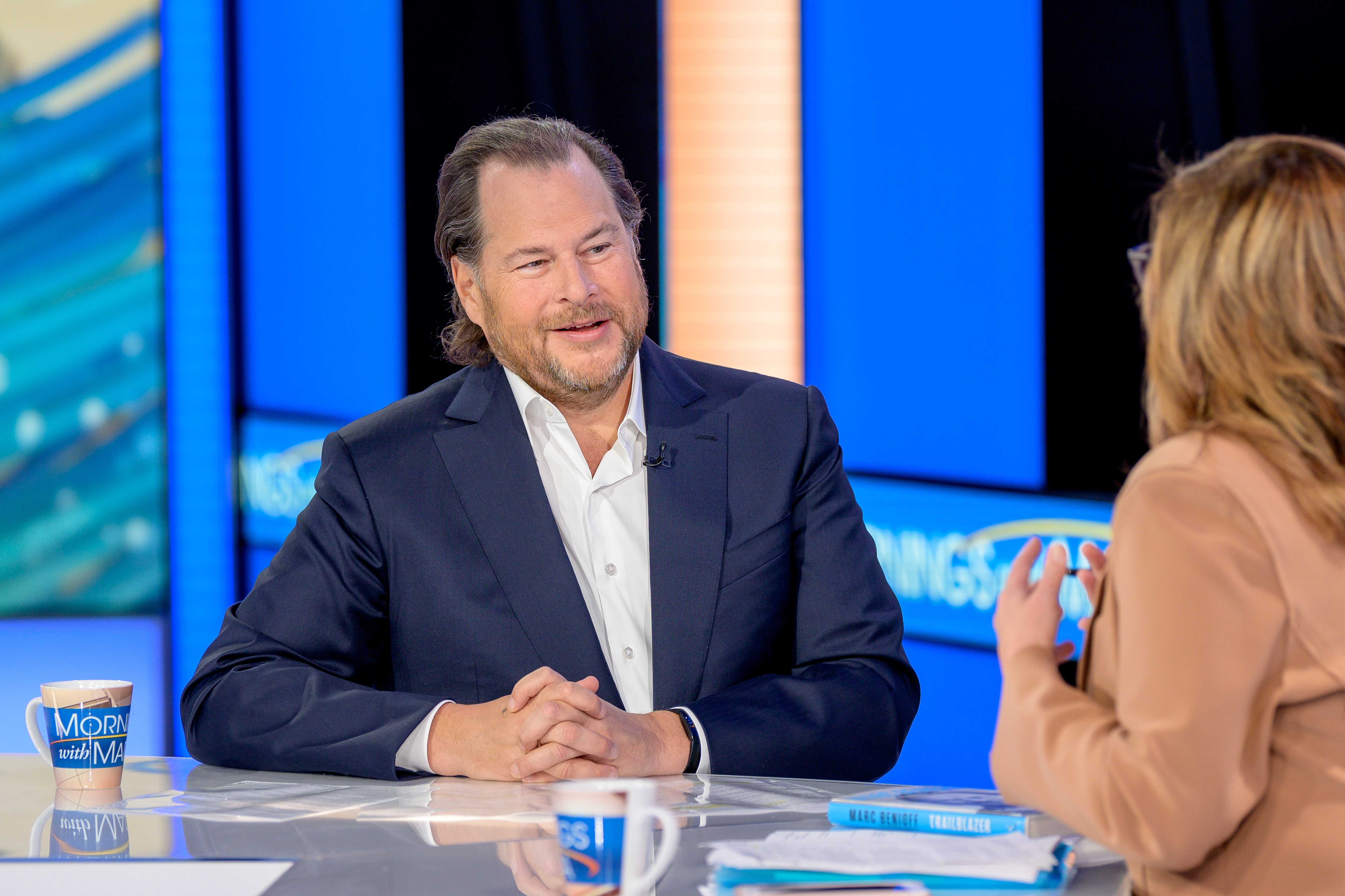 Salesforce Founder & Co-CEO Marc Benioff making a television appearance this month