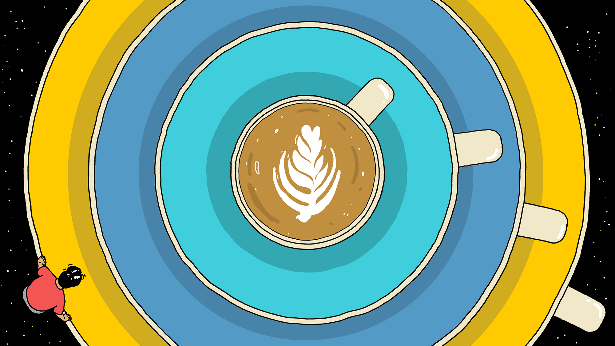 An illustration of a flat white