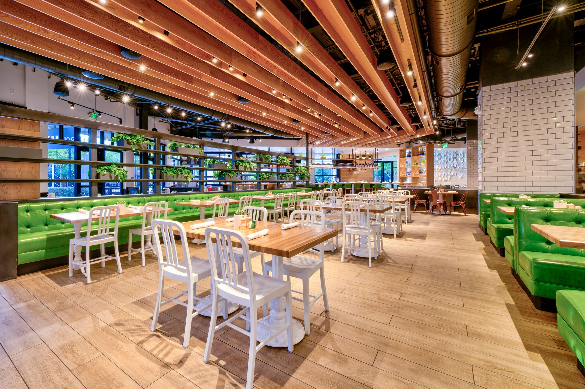 The bright and airy main dining section at True Food Kitchen.