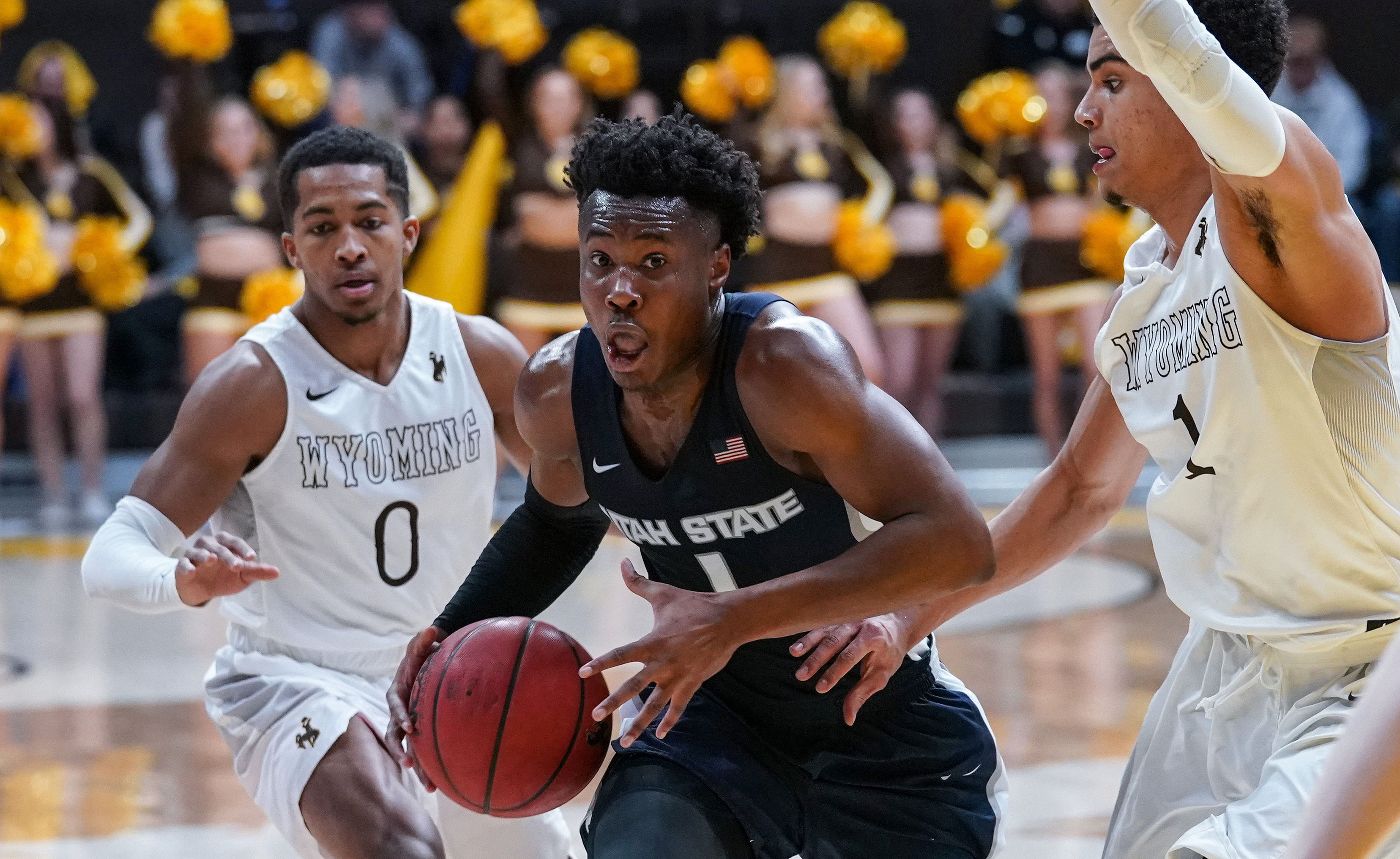 NCAA Basketball: Utah State at Wyoming