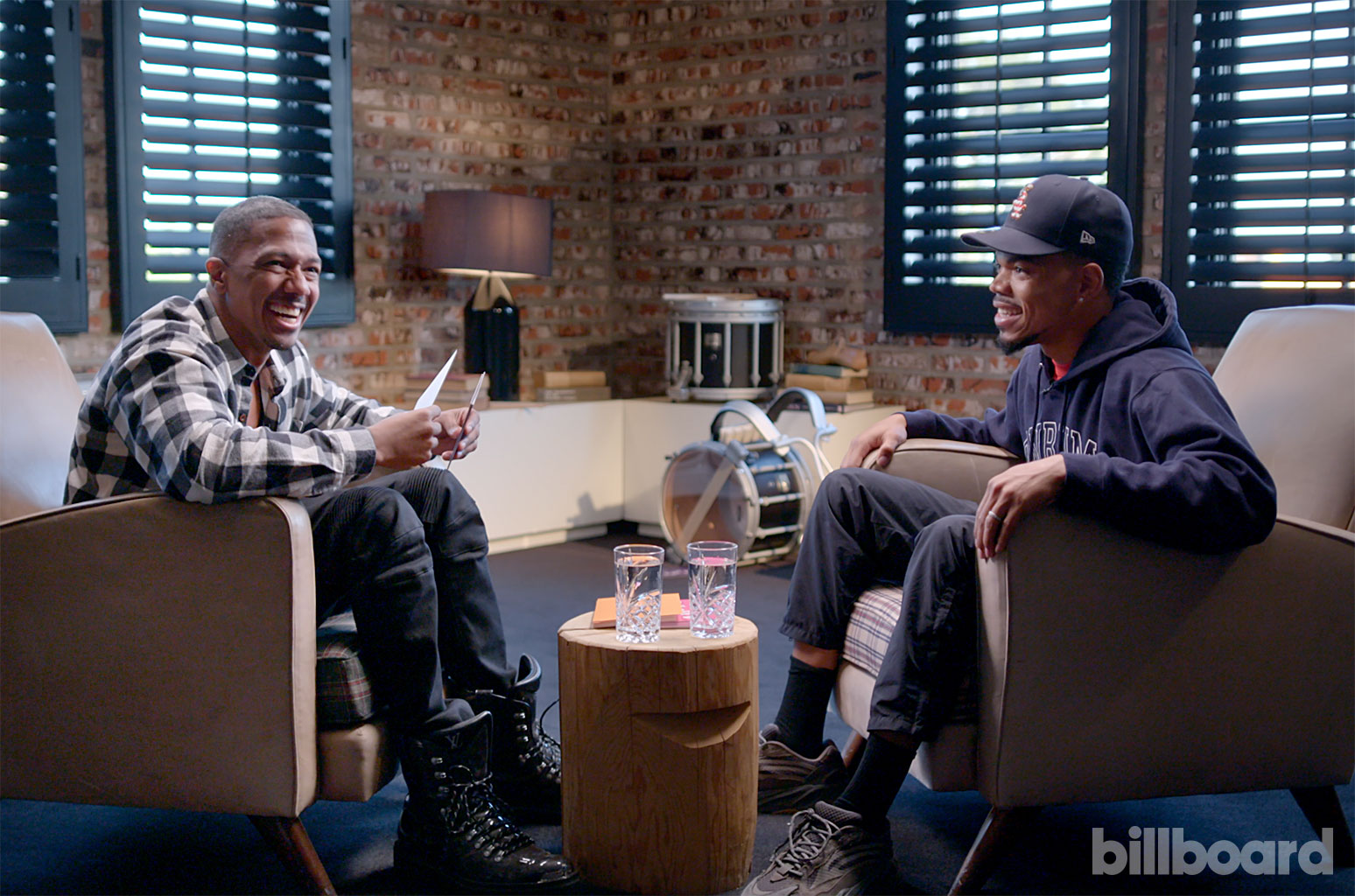 """Chance the Rapper and Nick Cannon sit down for a Billboard """"Quizzed"""" episode."""