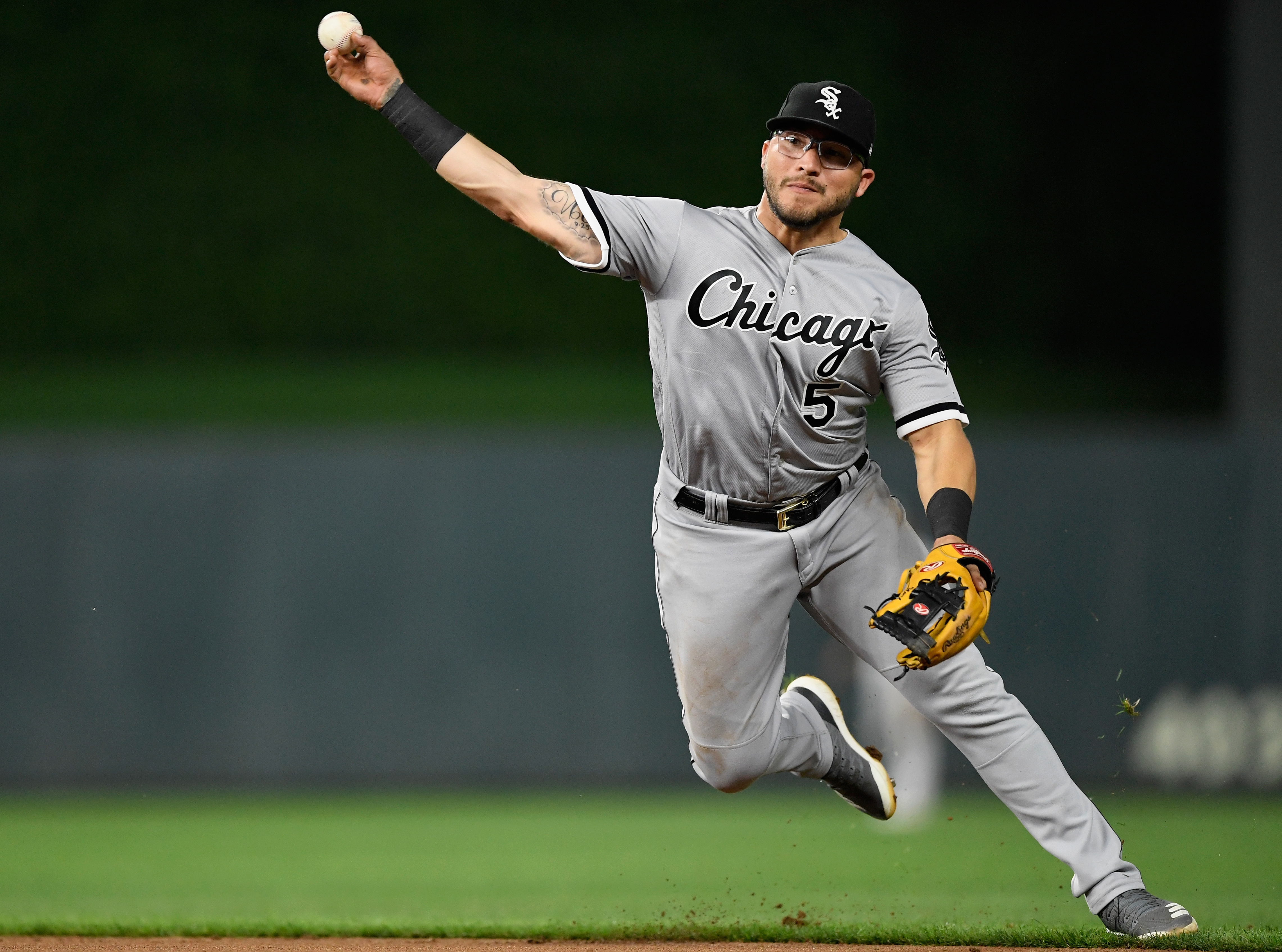 White Sox second baseman Yolmer Sanchez has been nominated for a Gold Glove.
