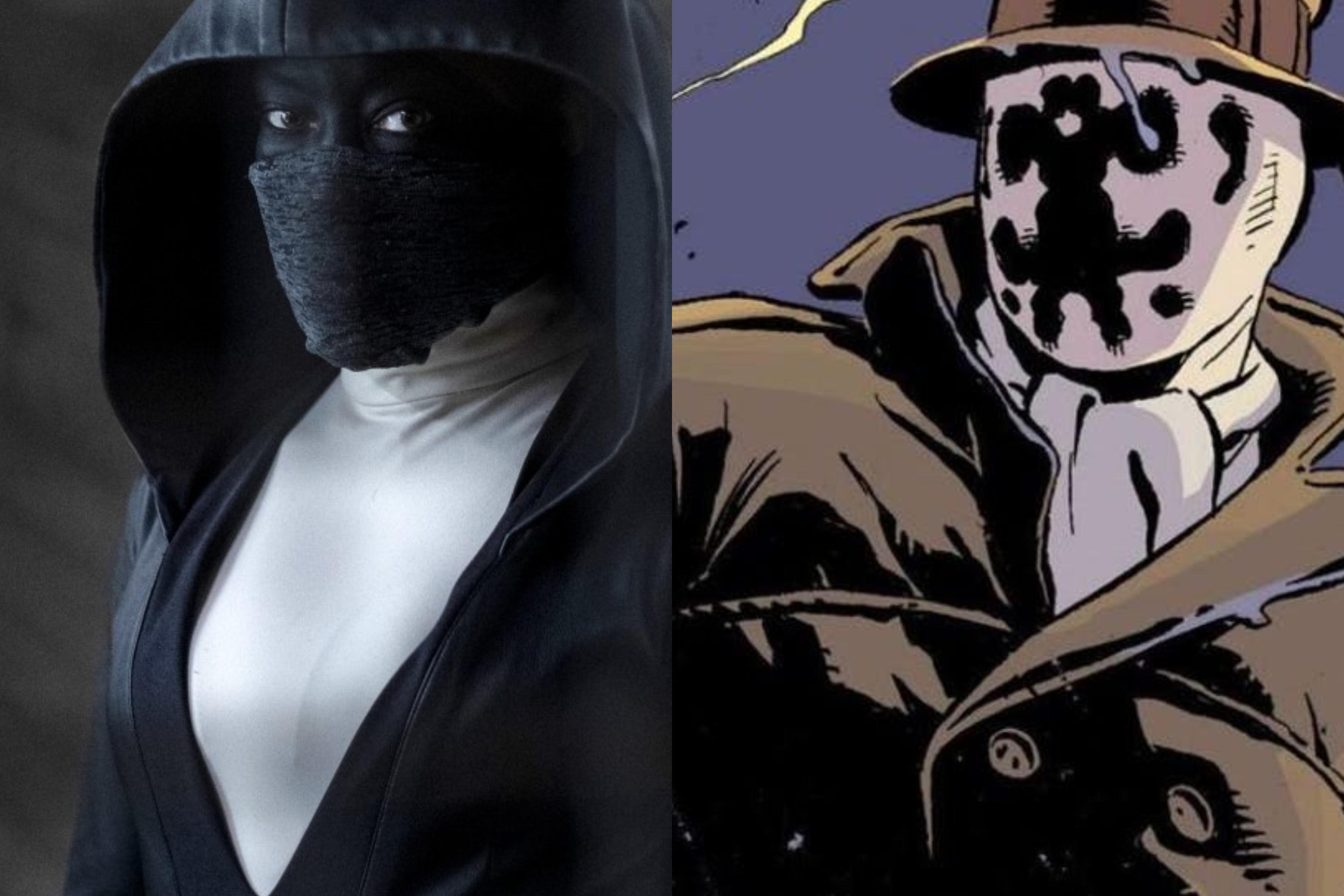 Left: HBO. Right: Gibbons/DC Comics.
