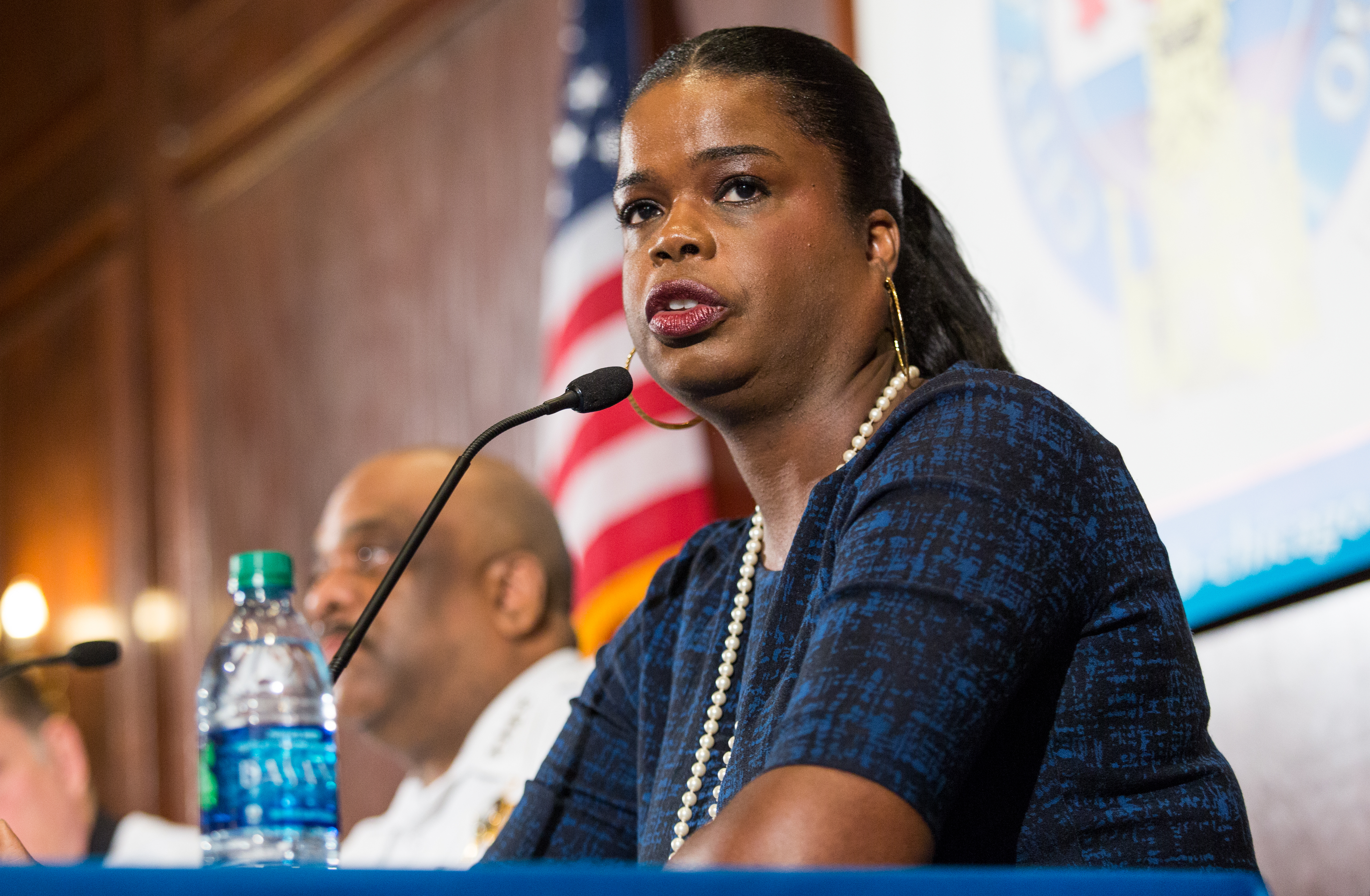 Shortly after the 2016 election, Cook County State's Attorney-elect Kim Foxx spoke about violence in Chicago at the City Club of Chicago.