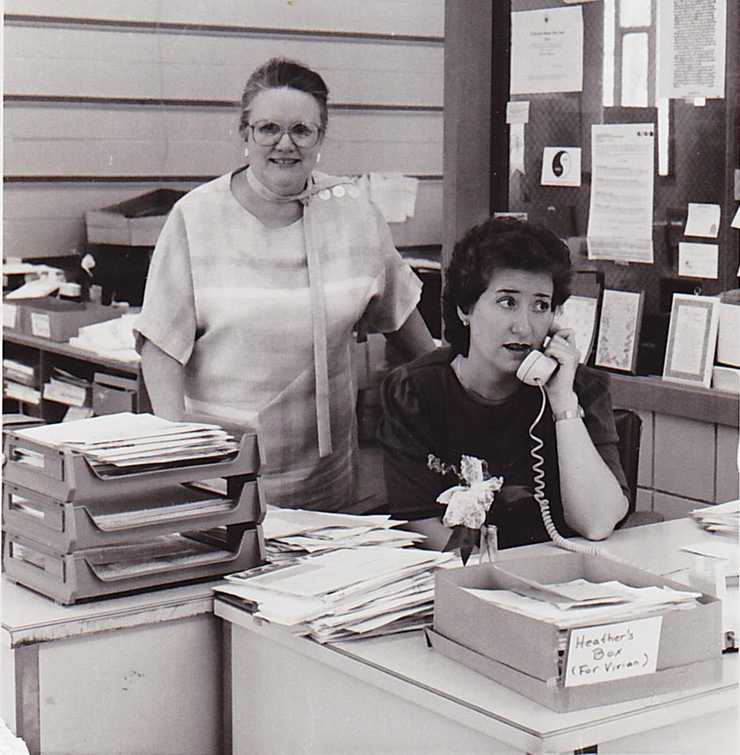 Vivian Hanson Meehan (left) in the office of the organization she founded, the National Association of Anorexia Nervosa and Associated Disorders.