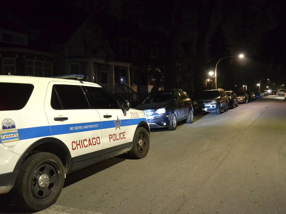 A Chicago police officer was hit by a car that fled a traffic stop Oct. 25, 2019, in the 700 block of West 103rd Street in Fernwood.