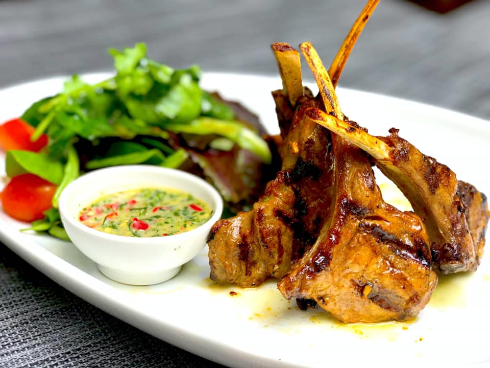 Grilled lemongrass lamb chops from 1618 Asian Fusion