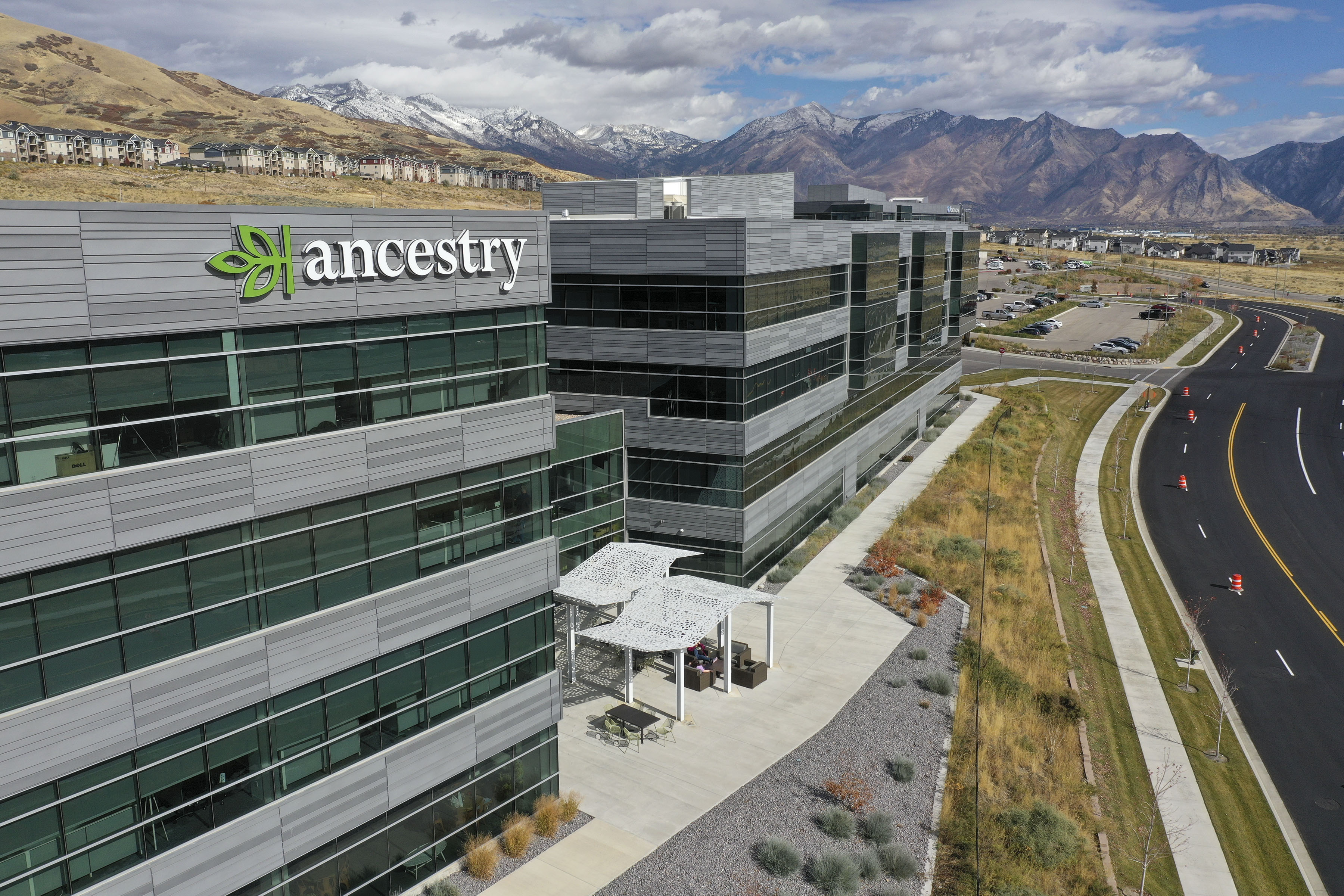 Ancestry's office building in Lehi is pictured on Tuesday, Oct. 22, 2019.
