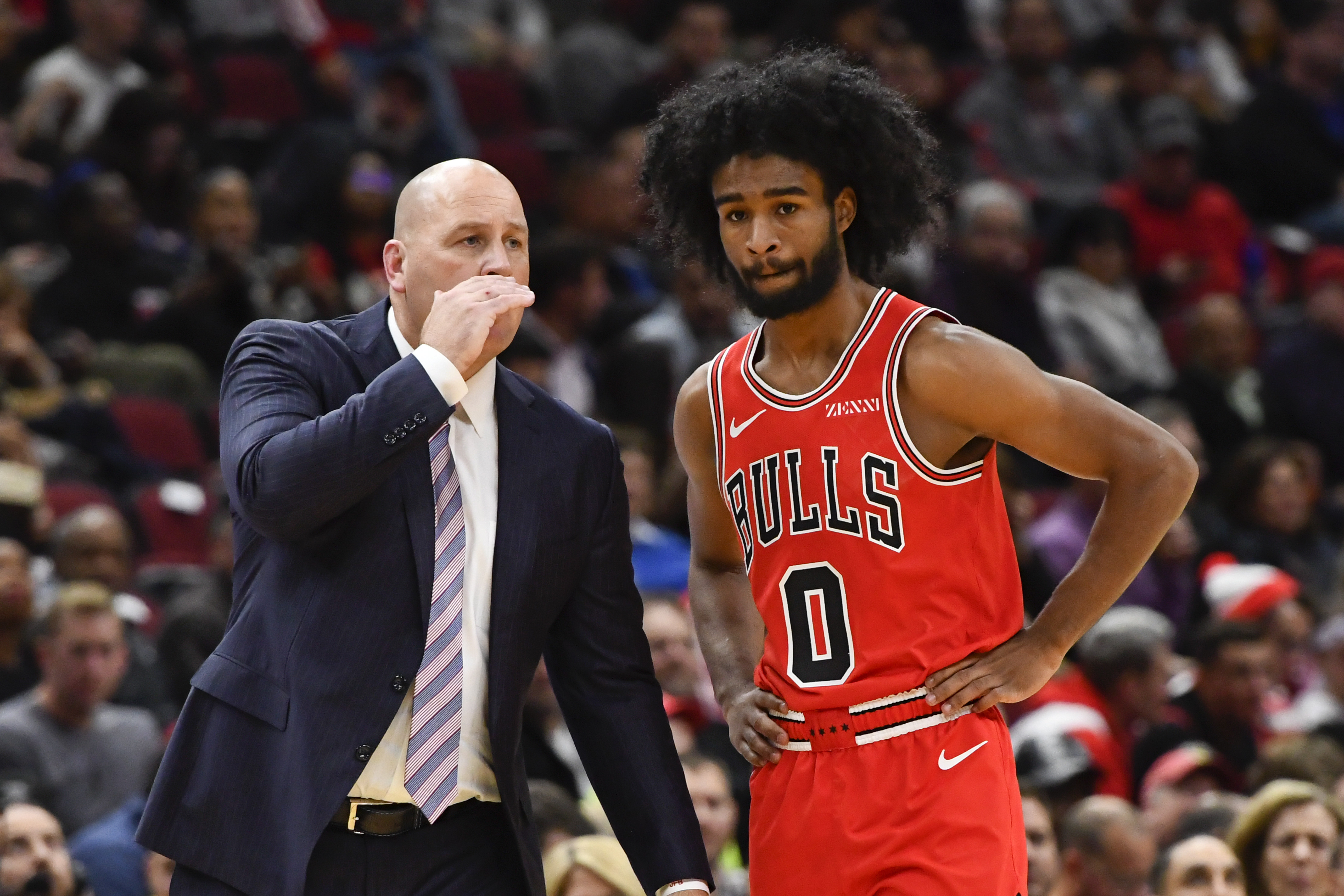 """""""I don't critique [rookie Coby White] on every moment or everything,'' Bulls coach Jim Boylen said. """"I try to let him play, let him figure it out a little bit. I don't put titles on him, and I don't give him a position title."""""""