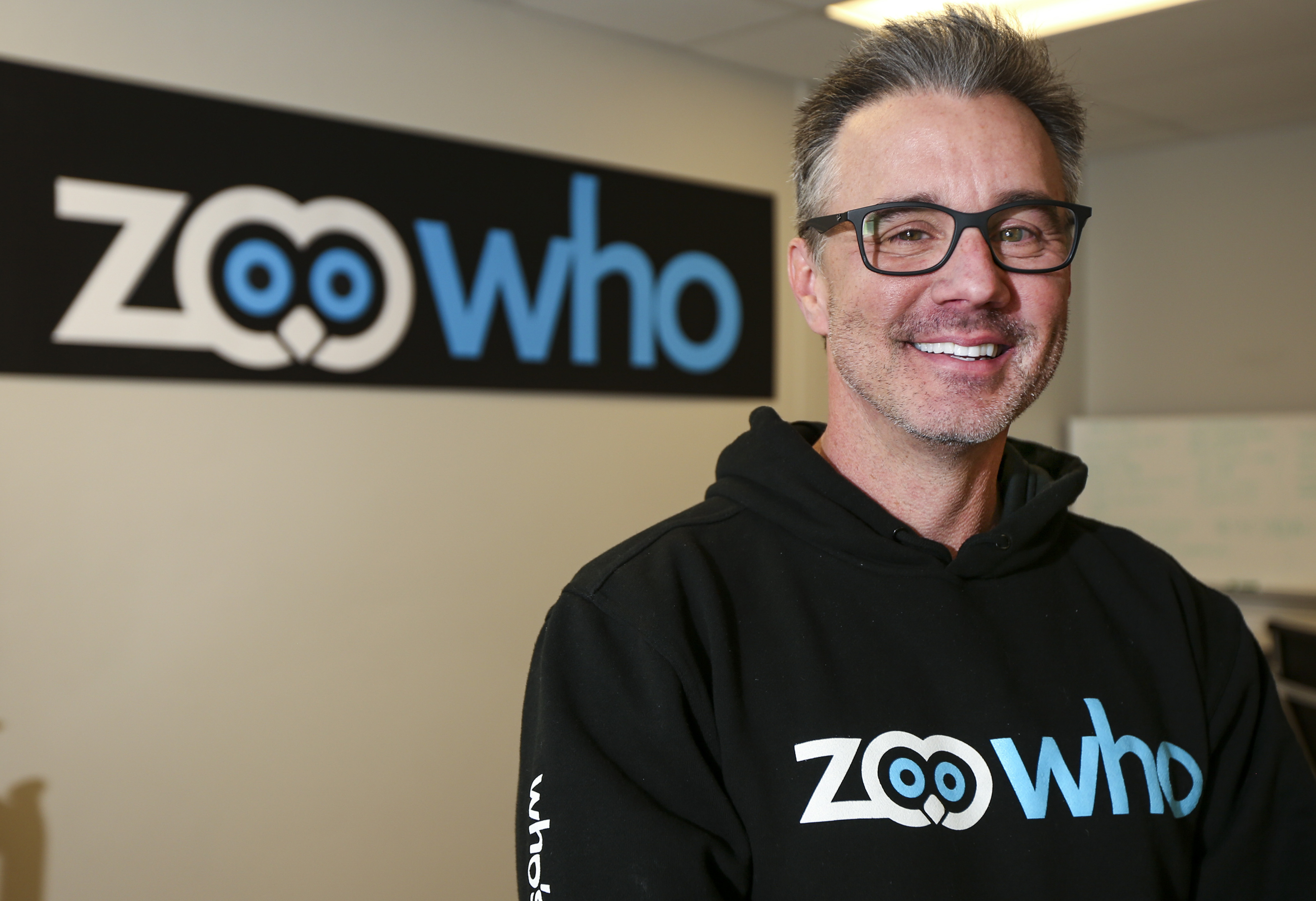 ZooWho CEO and founder Sean Bair poses for a portrait at the ZooWho offices in Provo on Friday, Oct. 11, 2019. ZooWho is a social media application that allows people to keep track of things and people they care about.