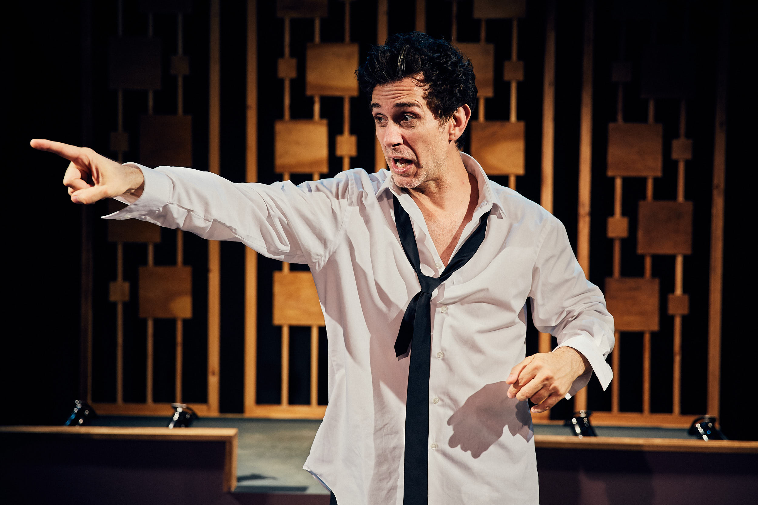 "Ronnie Marmo stars as Lenny Bruce in ""I'm Not a Comedian… I'm Lenny Bruce"" at the Royal George Theatre."