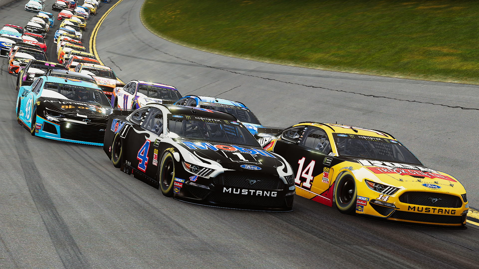 Kevin Harvick and Clint Bowyer leading the pack in NASCAR Heat 4