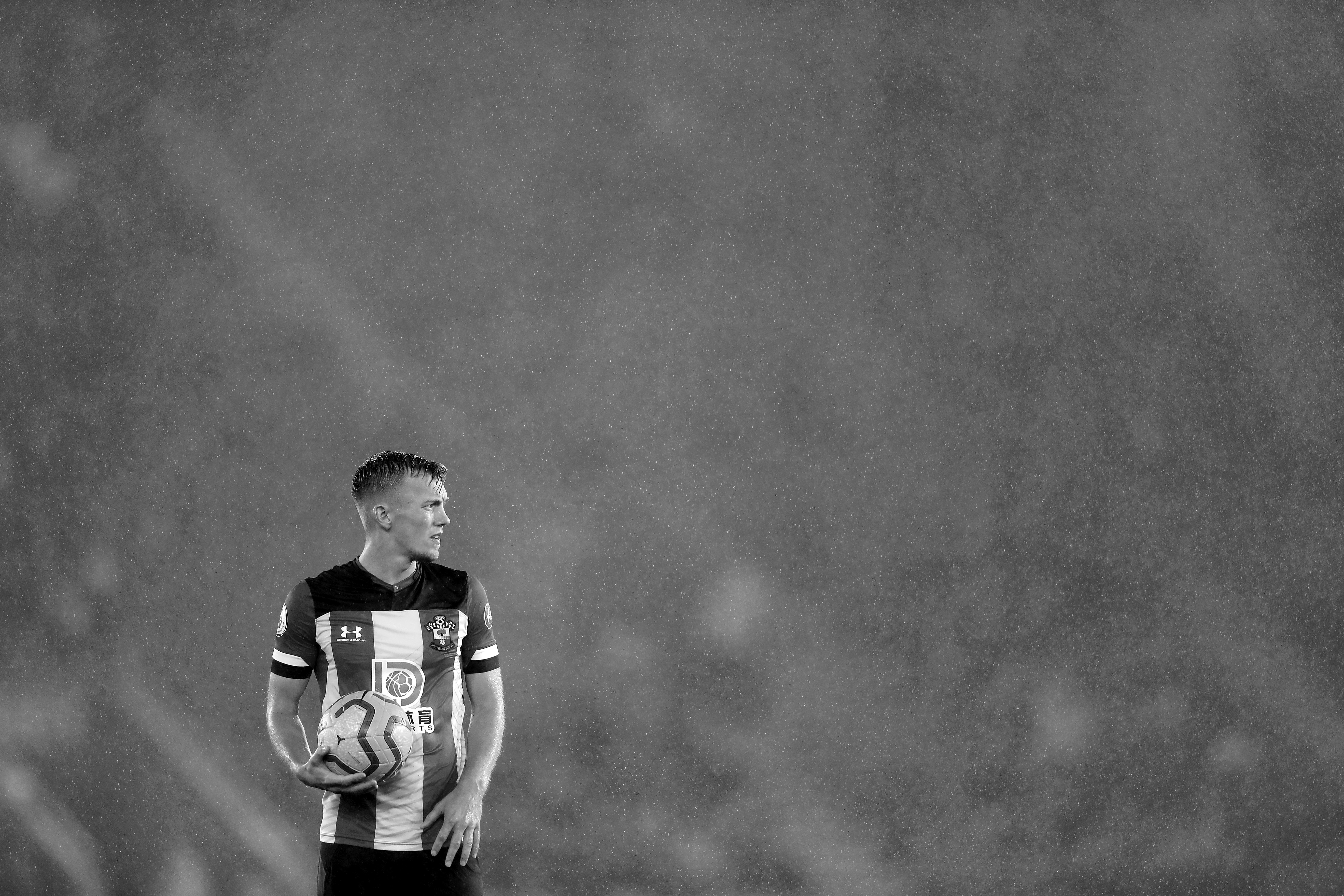 A forlorn James Ward-Prowse as Southampton go down 9-0 at home to Leicester City in the Premier League