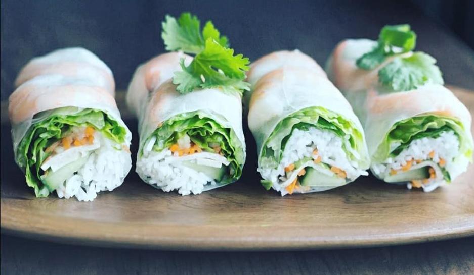 Vegan spring rolls at the Secret of Siam Thai restaurant in Centennial.
