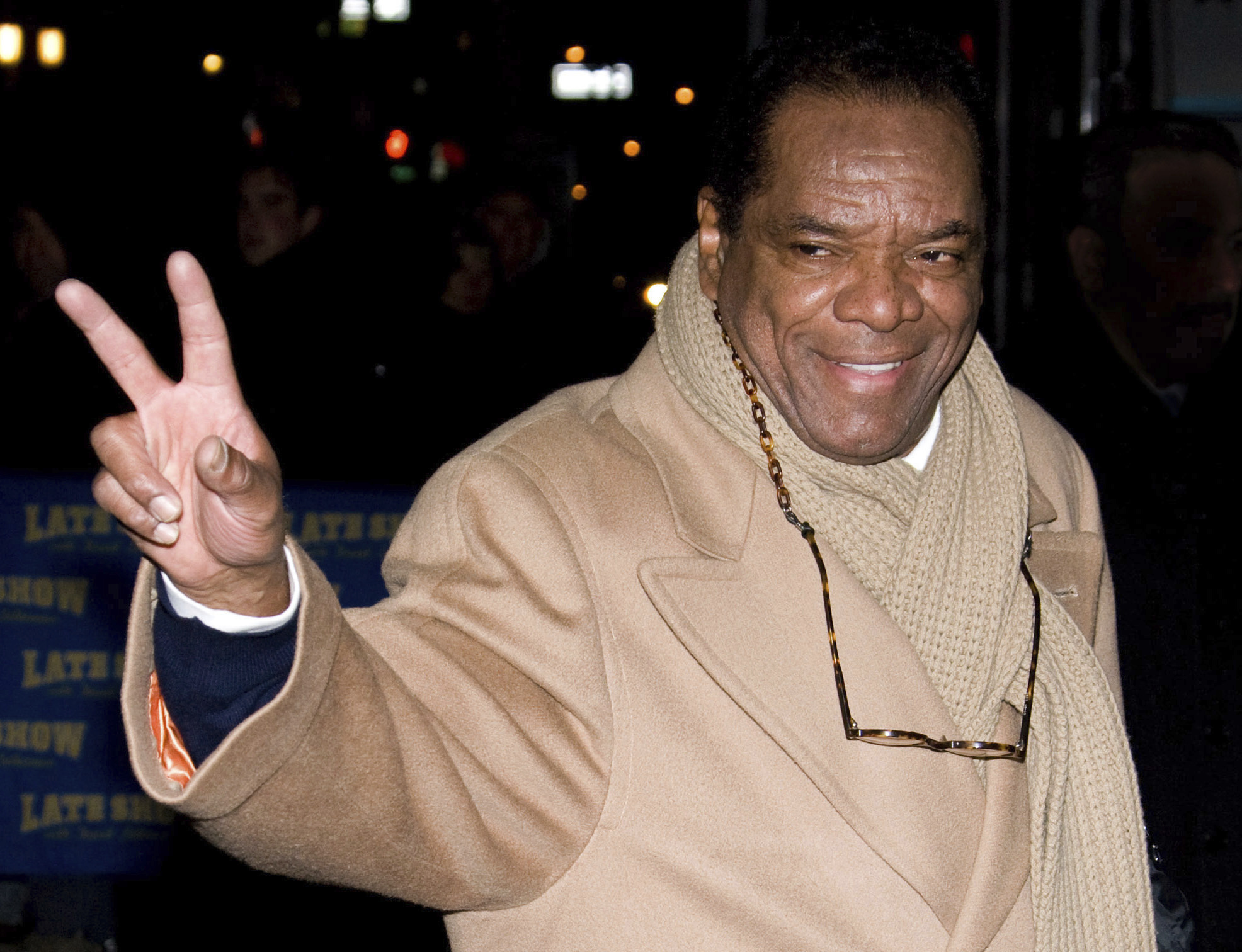 """John Witherspoon leaves a taping of """"The Late Show with David Letterman"""" in New York."""
