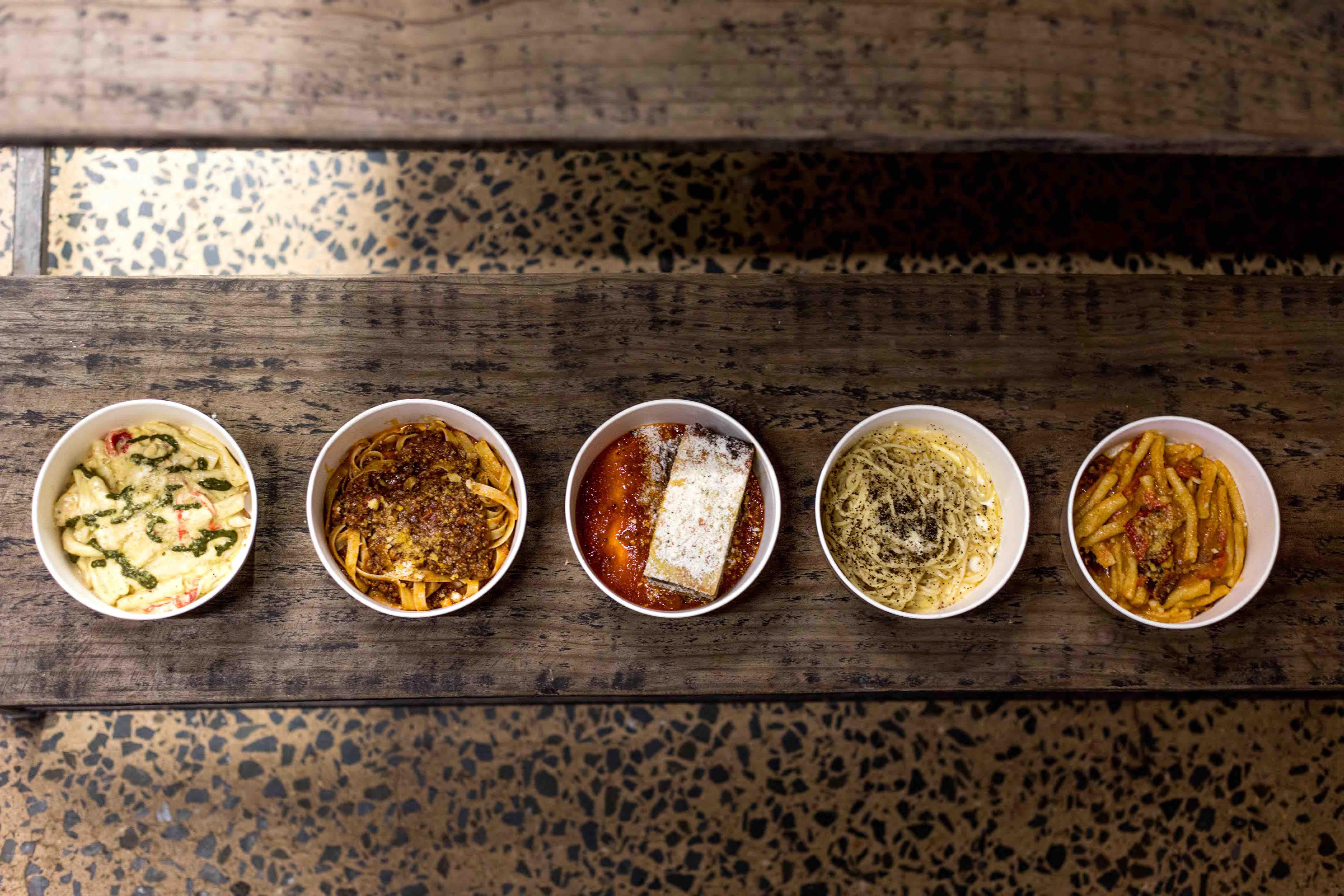 Core menu offerings at The Italian Job