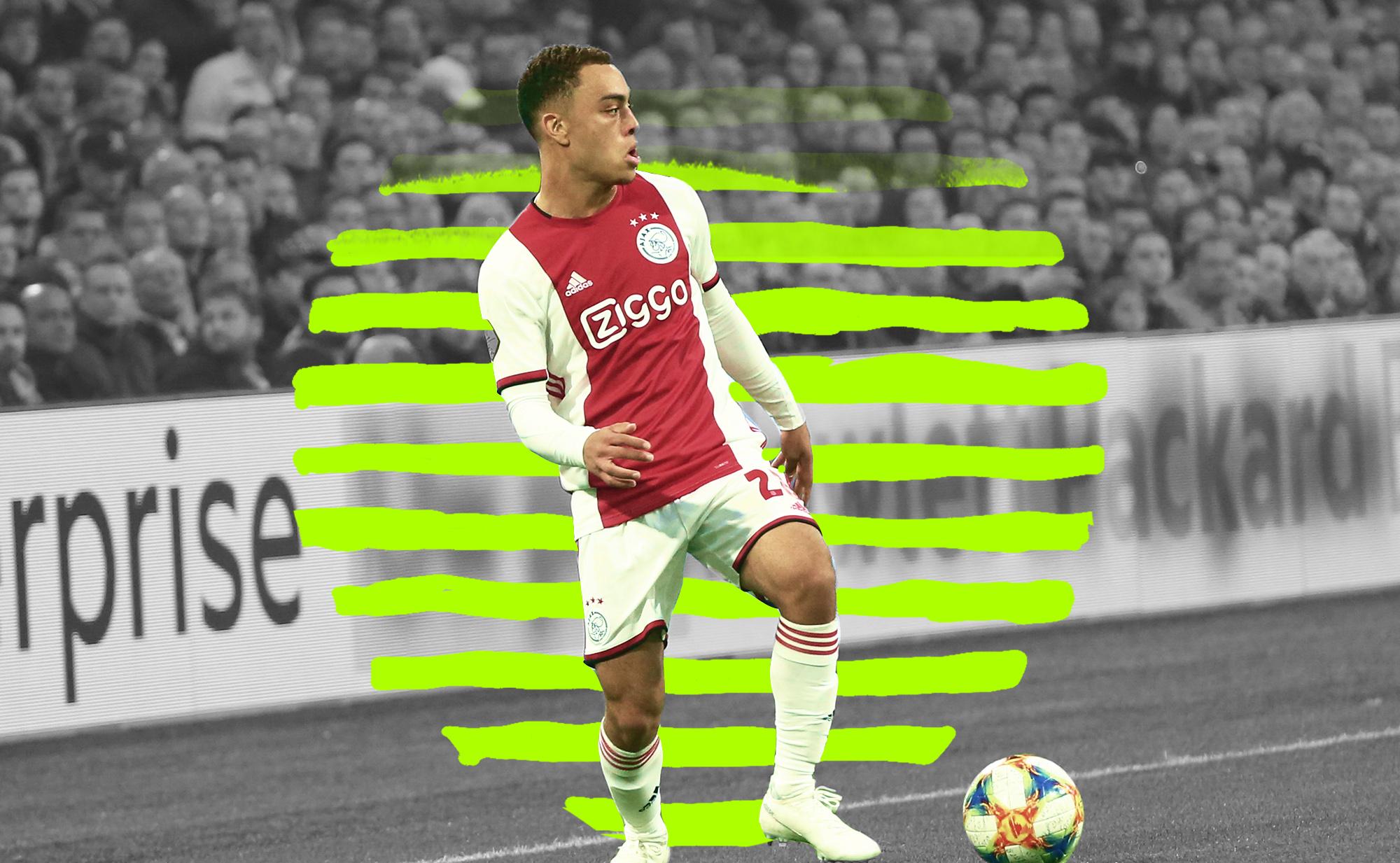 Dest playing for Ajax against Feyenoord