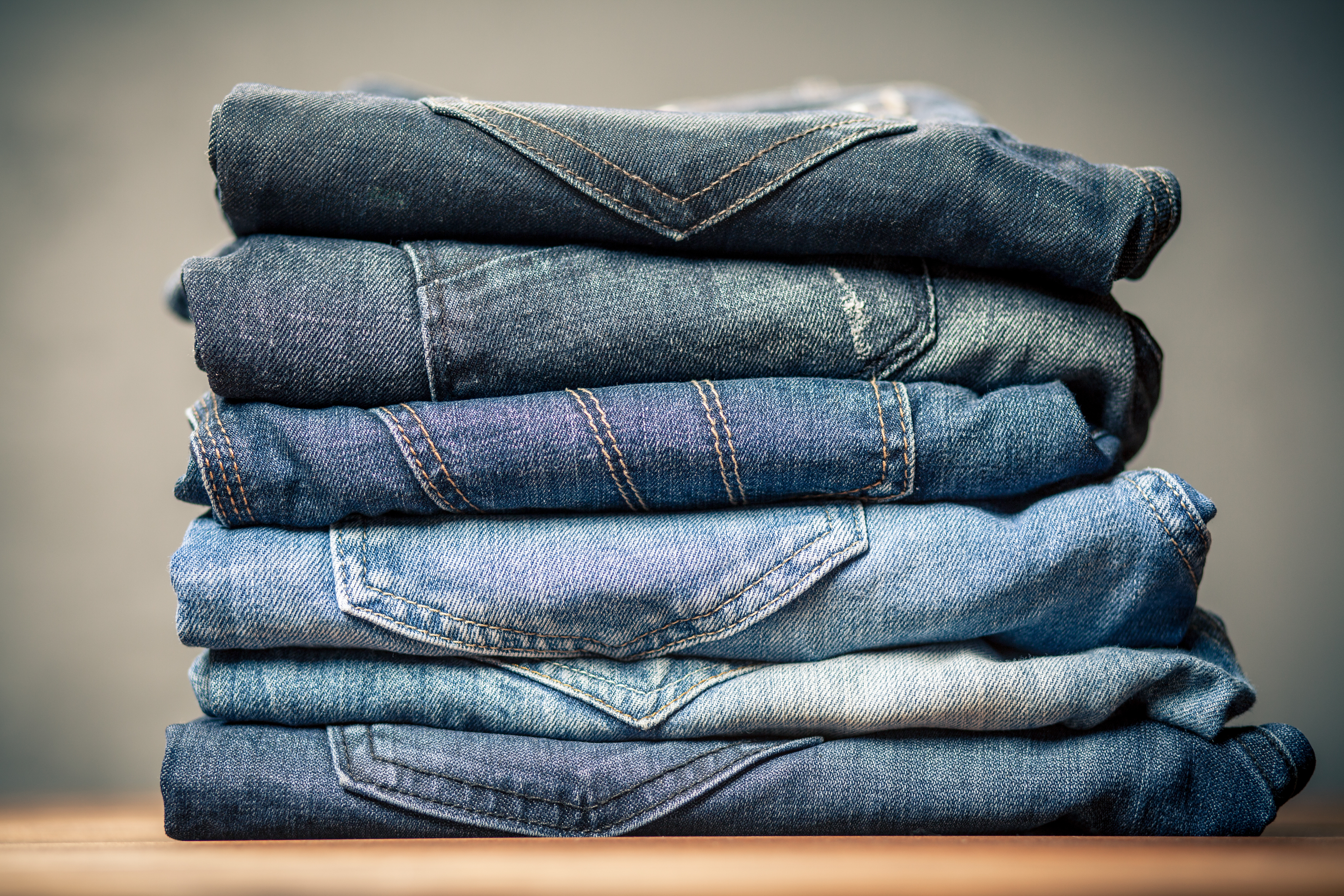 Jeans, multiple experts advise, should be washed in cold water with a mild detergent, and always air-dried.
