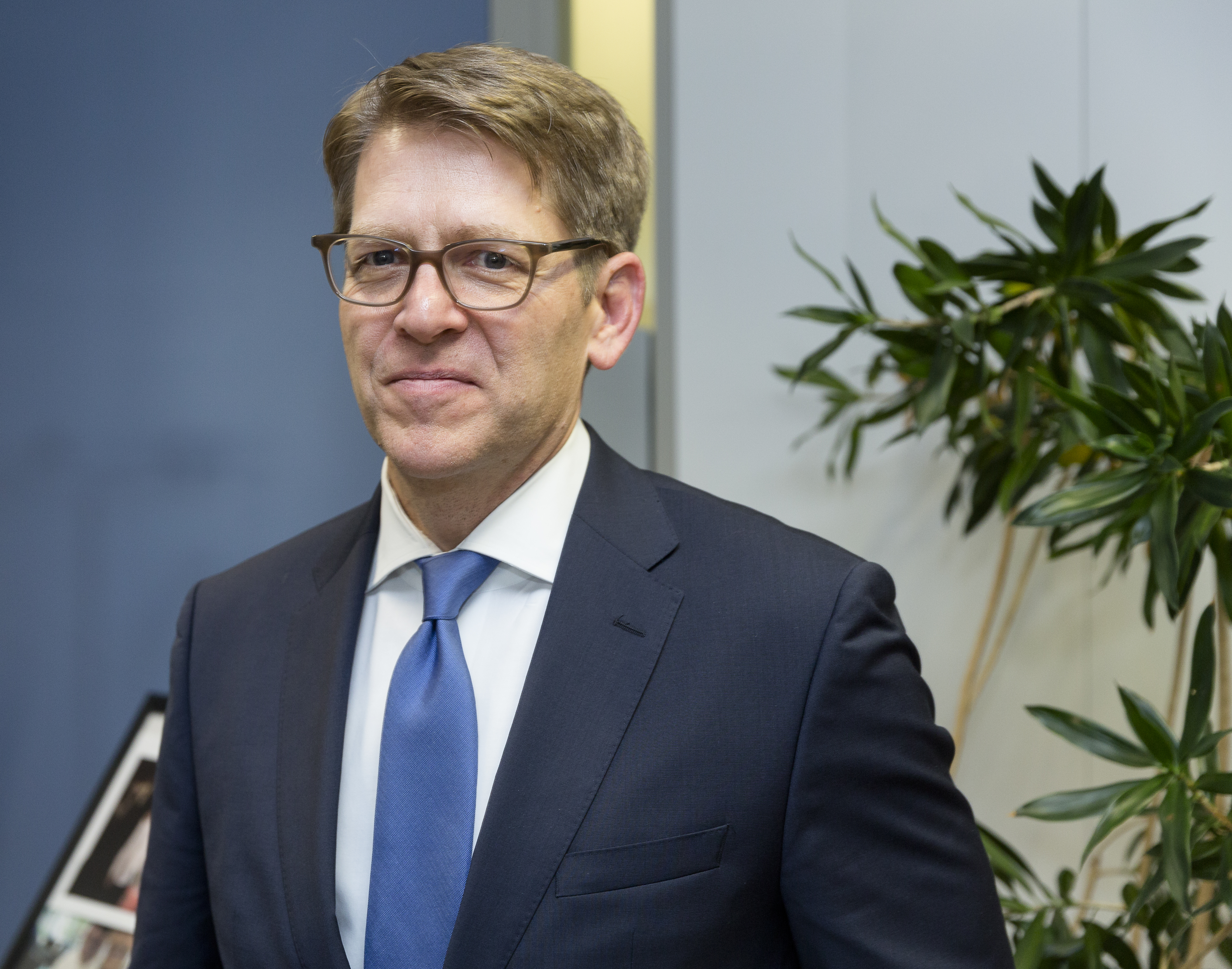 Amazon's Jay Carney poses for a photo.