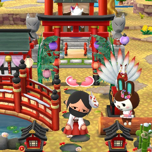An Animal Crossing character stands dejected in front of a rabbit