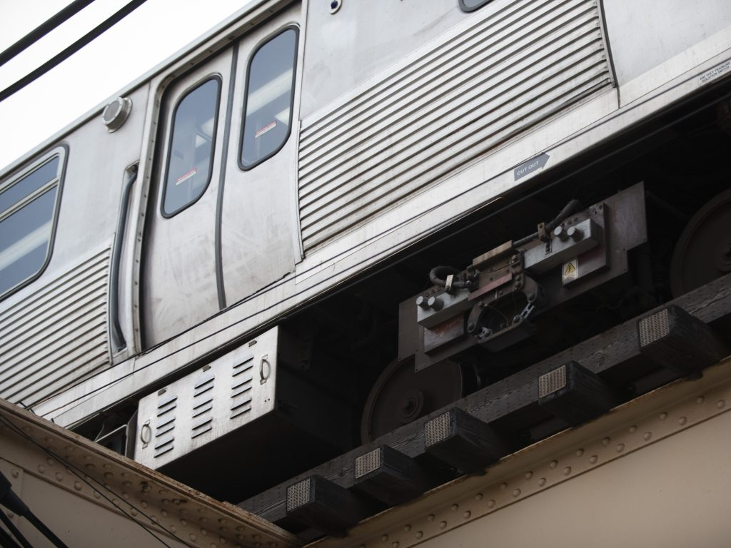 Red Line trains were rerouted to elevated tracks Oct. 31, 2019, after a person was struck by a train in the Loop.
