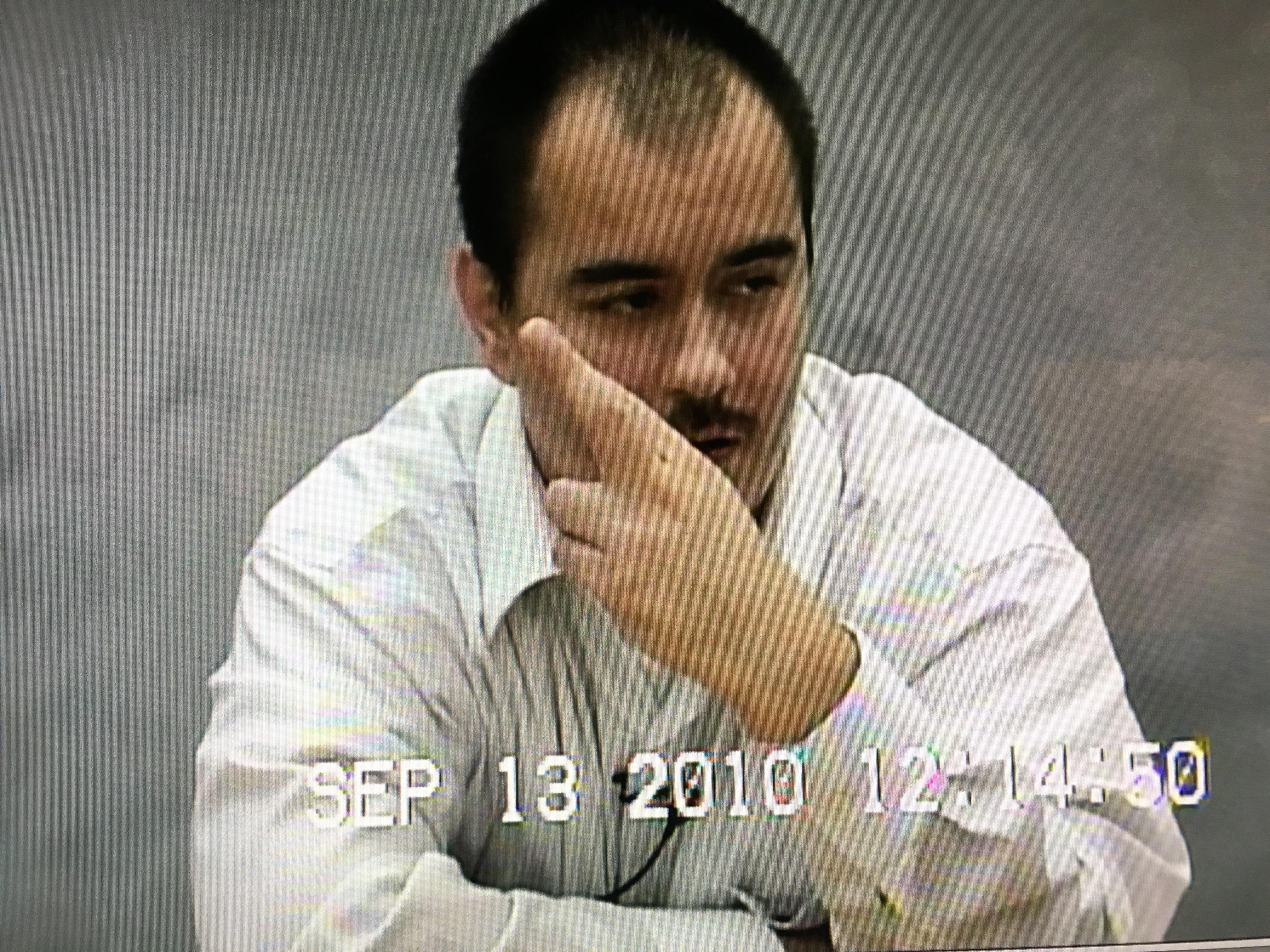 T.J. Jimenez flashes the Simon City Royals gang sign.