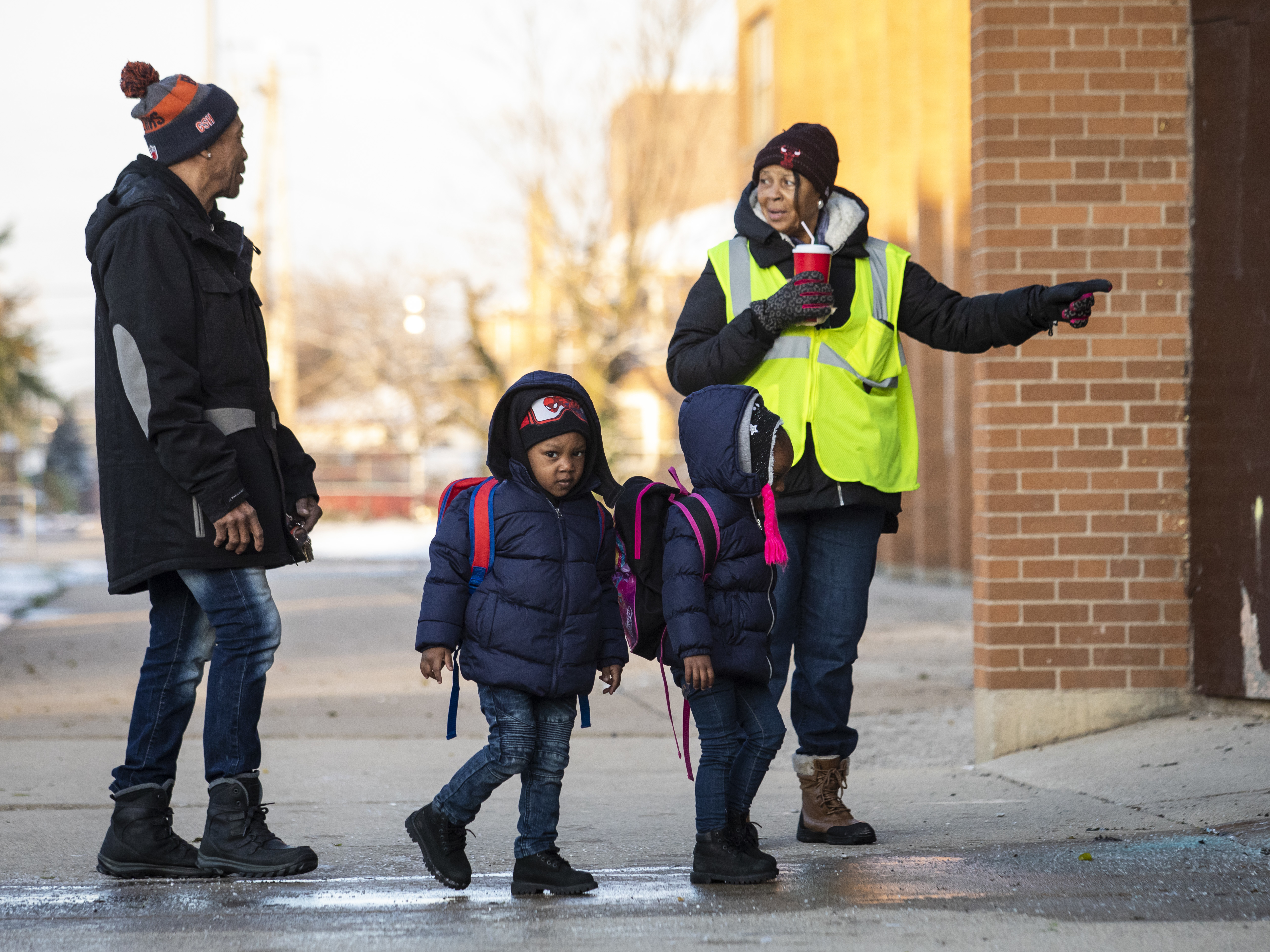 Students return to class at Roswell B. Mason Elementary School on the South Side.