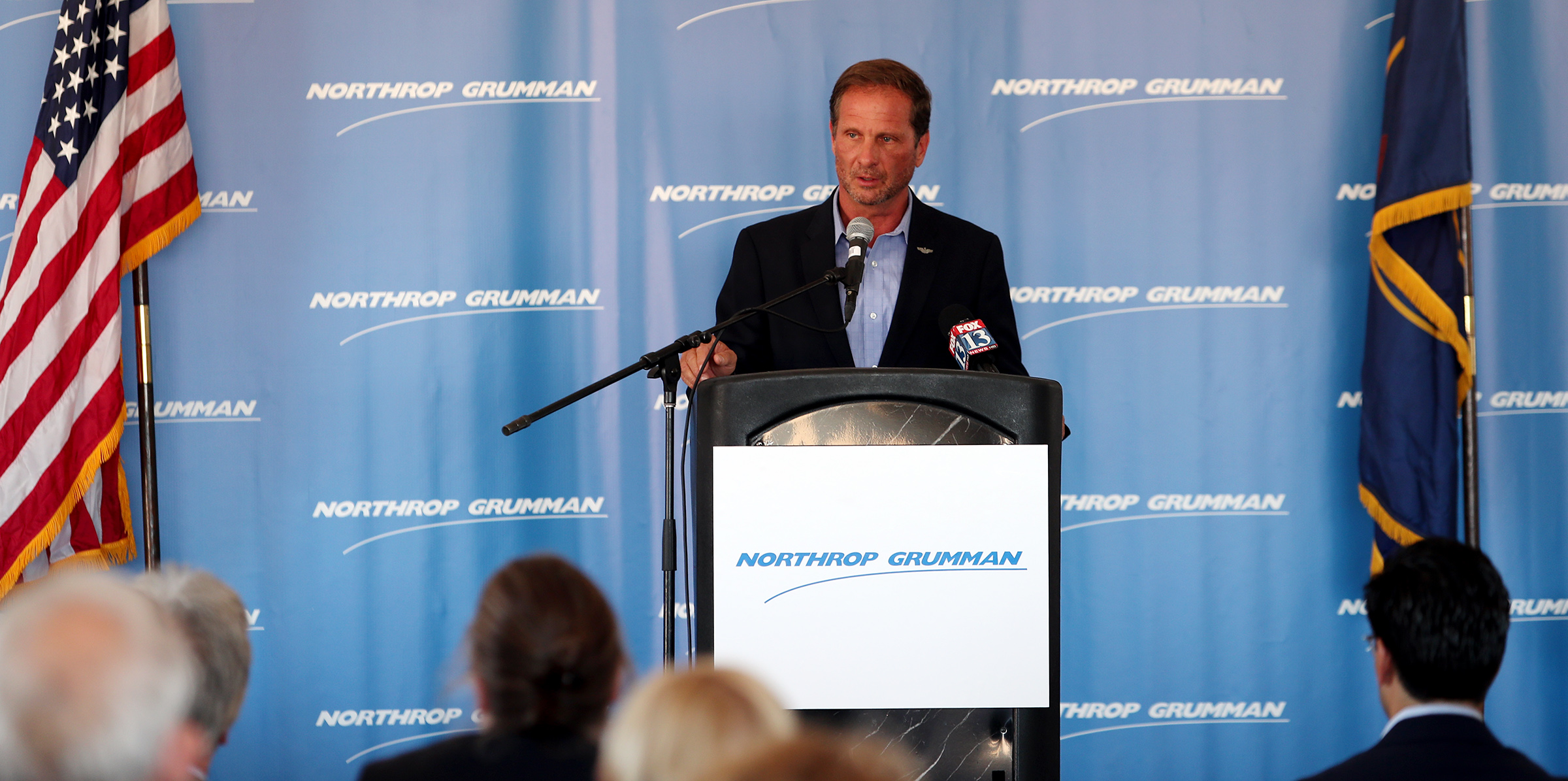 Rep. Chris Stewart, R-Utah, speaks during a groundbreaking ceremony for Northrop Grumman's missile defense development facility in Roy on Tuesday, Aug. 27, 2019.